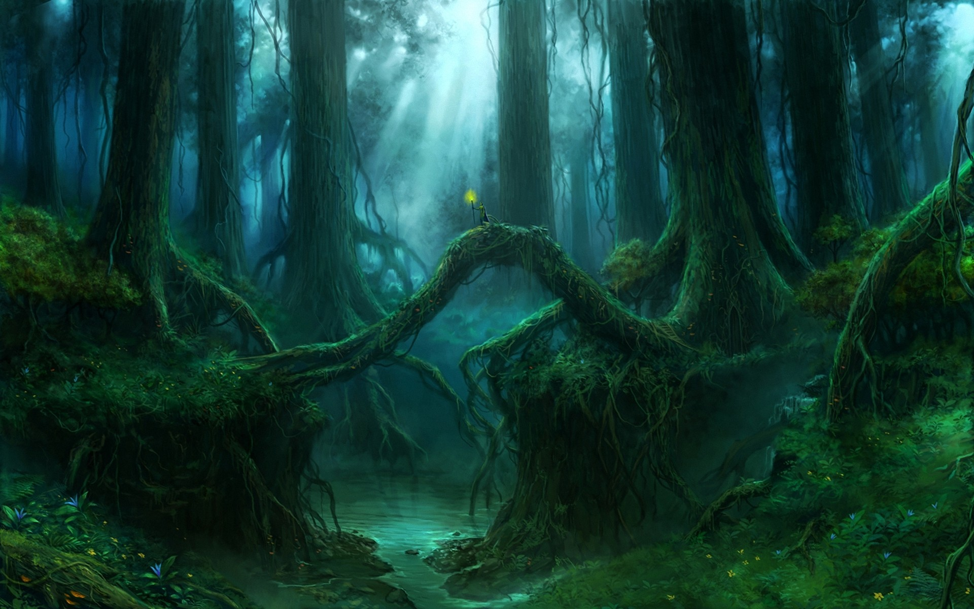 1920x1200 Fantasy - Forest - Wood Wallpaper