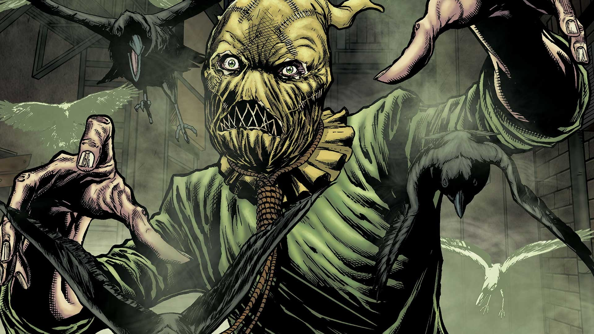 1920x1080 Scarecrow develops your deepest darkest fears, and make them become a  reality with his hallucinogenic gas. This often causes trouble for Batman  when trying ...