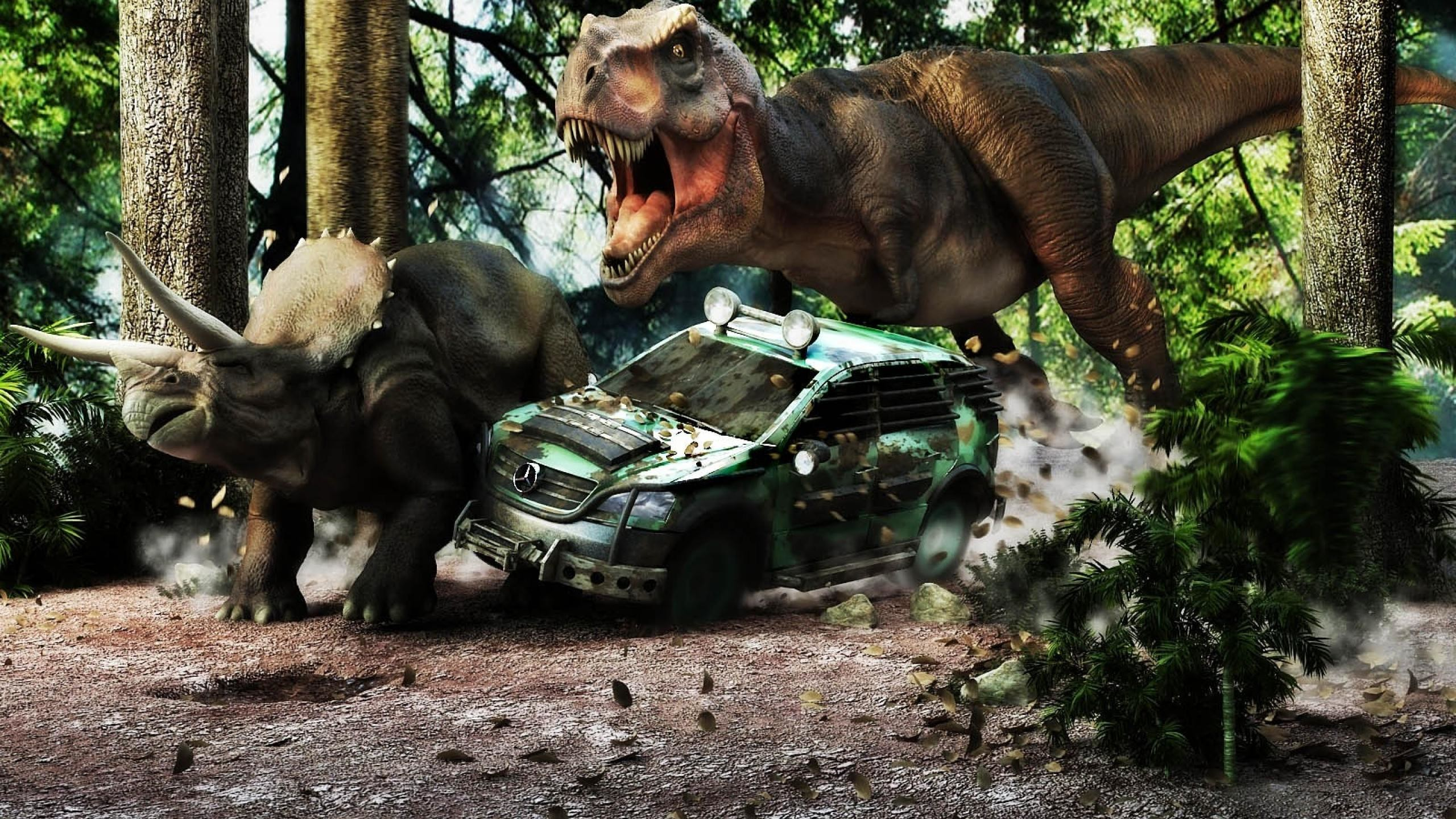 2560x1440 Free Jurassic Park T-rex Wallpaper Free Â« Long Wallpapers ...