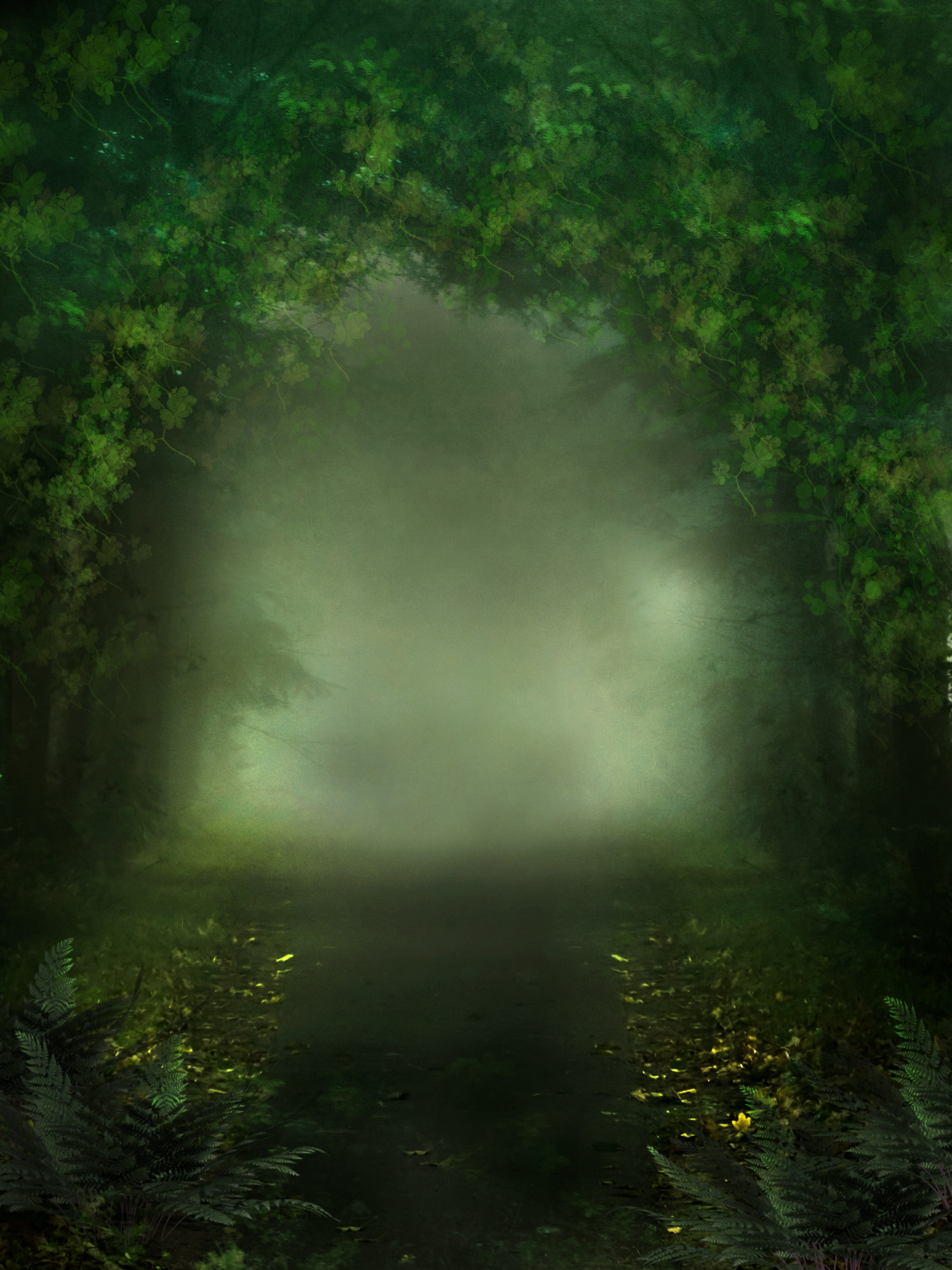 1800x2400 ... UNRESTRICTED - Mystery Woods Background 01 by frozenstocks