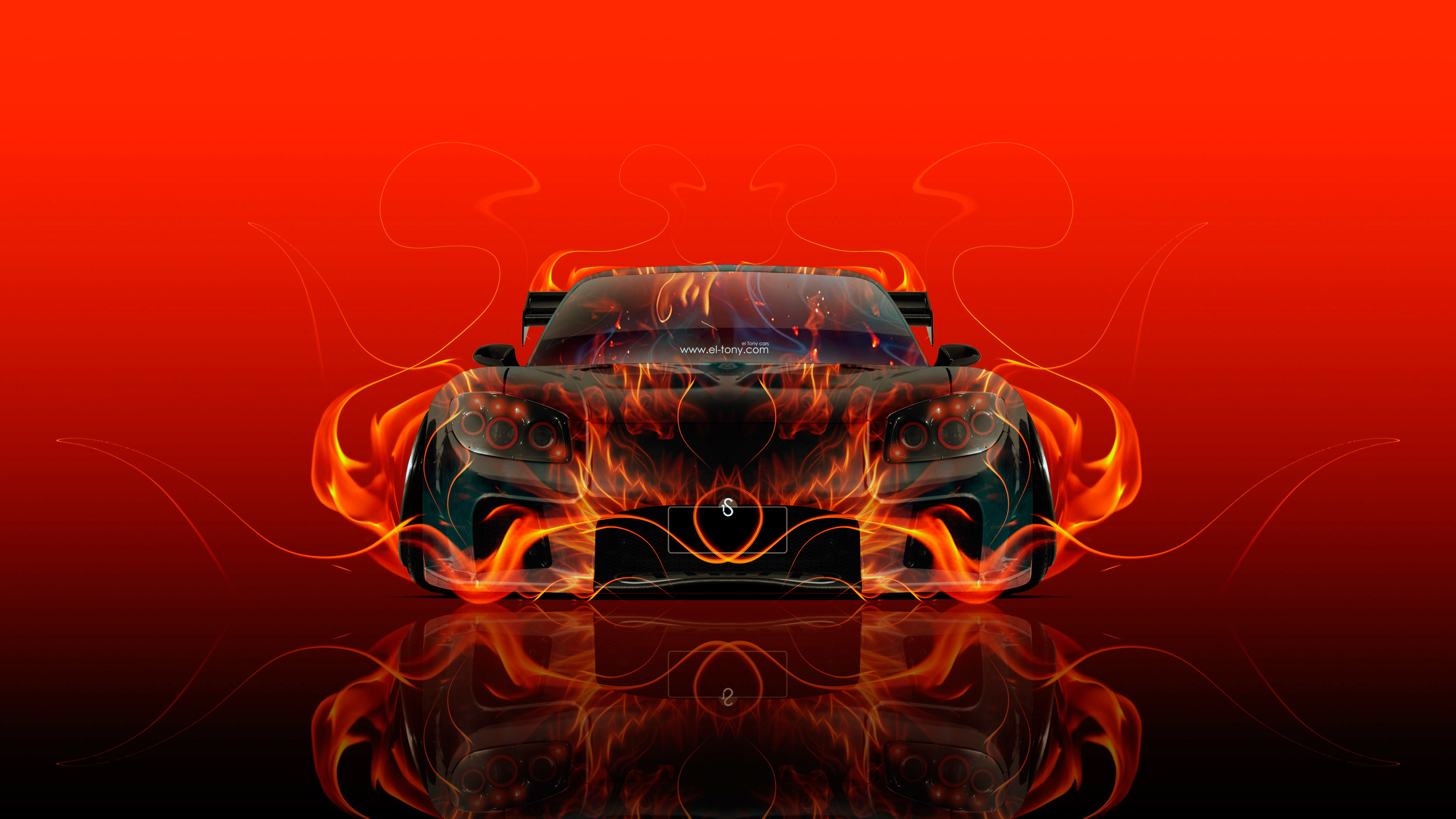 3840x2160 ... Mazda RX7 VeilSide JDM Front Fire Car 2015 Wallpapers El Tony  Cars