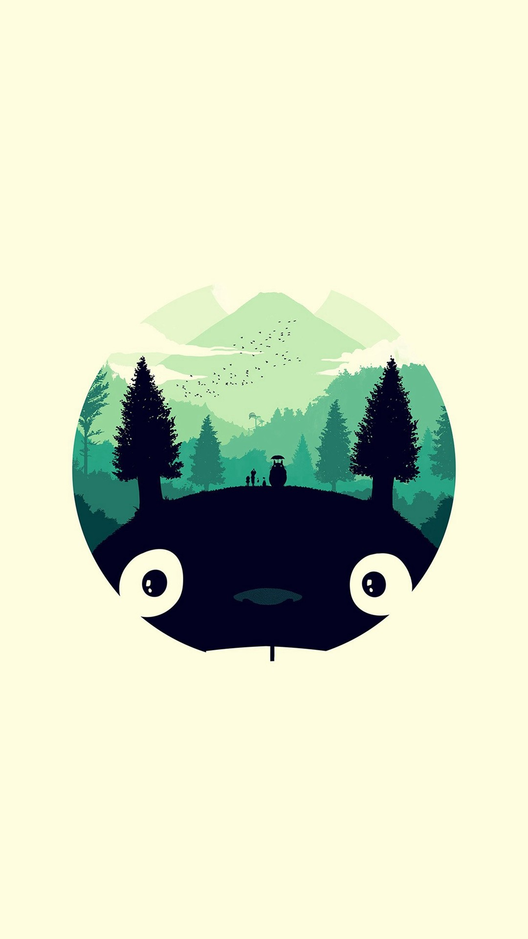 1080x1920 My Neighbor Totoro Cute Girl Branch Art Drawn IPhone 6 Plus Wallpaper