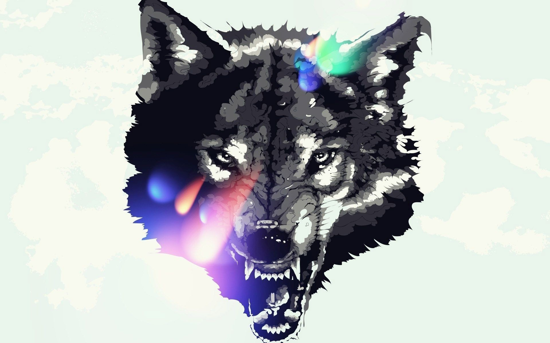 1920x1200 pin Drawn wallpaper wolf #4