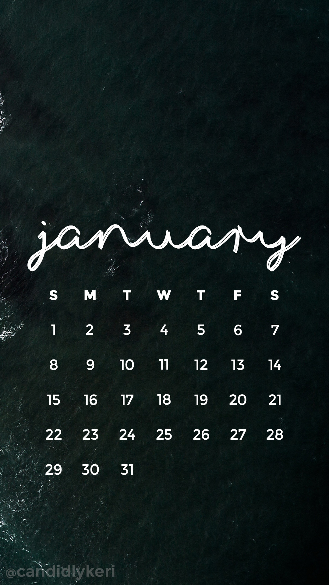 1080x1920 Ocean crash waves icey ocean January calendar 2017 wallpaper you can  download for free on the