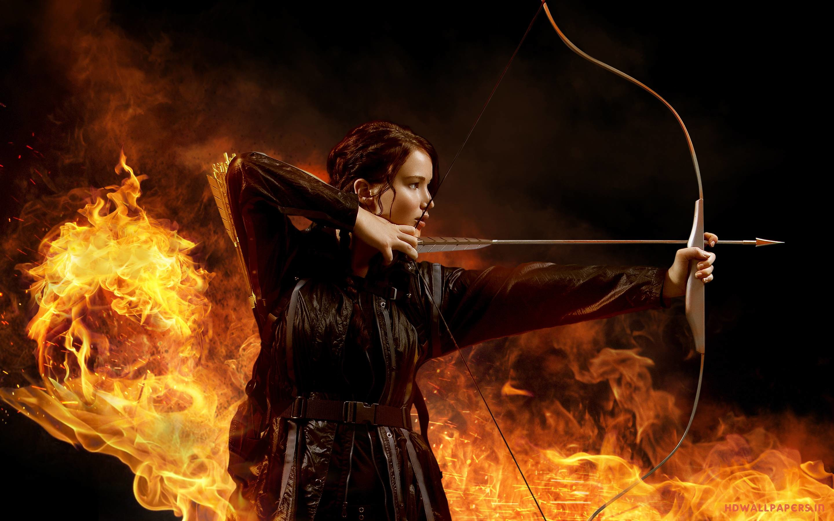 2880x1800 Jennifer Lawrence In The Hunger Games Wallpapers