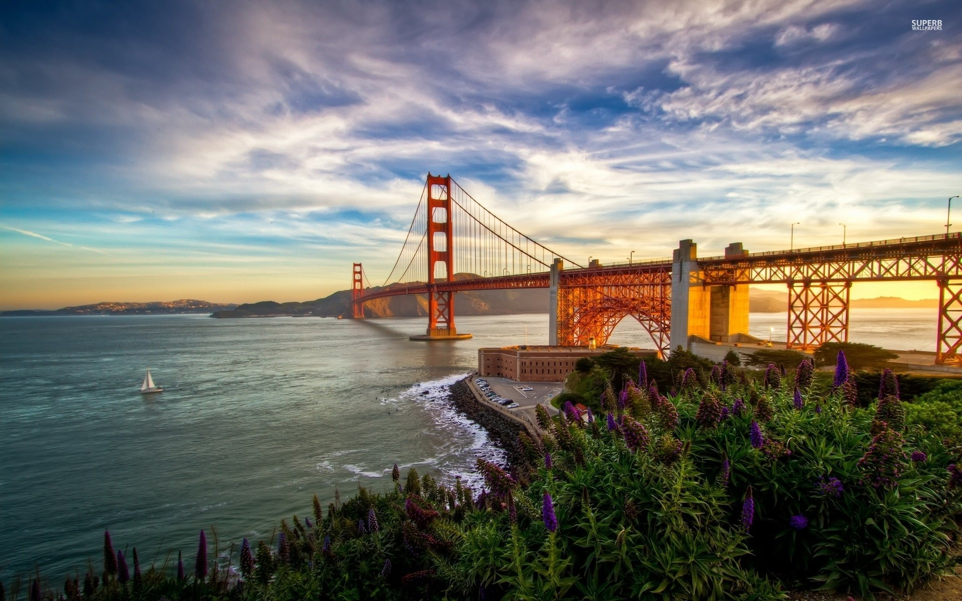 1920x1200 Golden Gate Bridge View wallpapers and stock photos