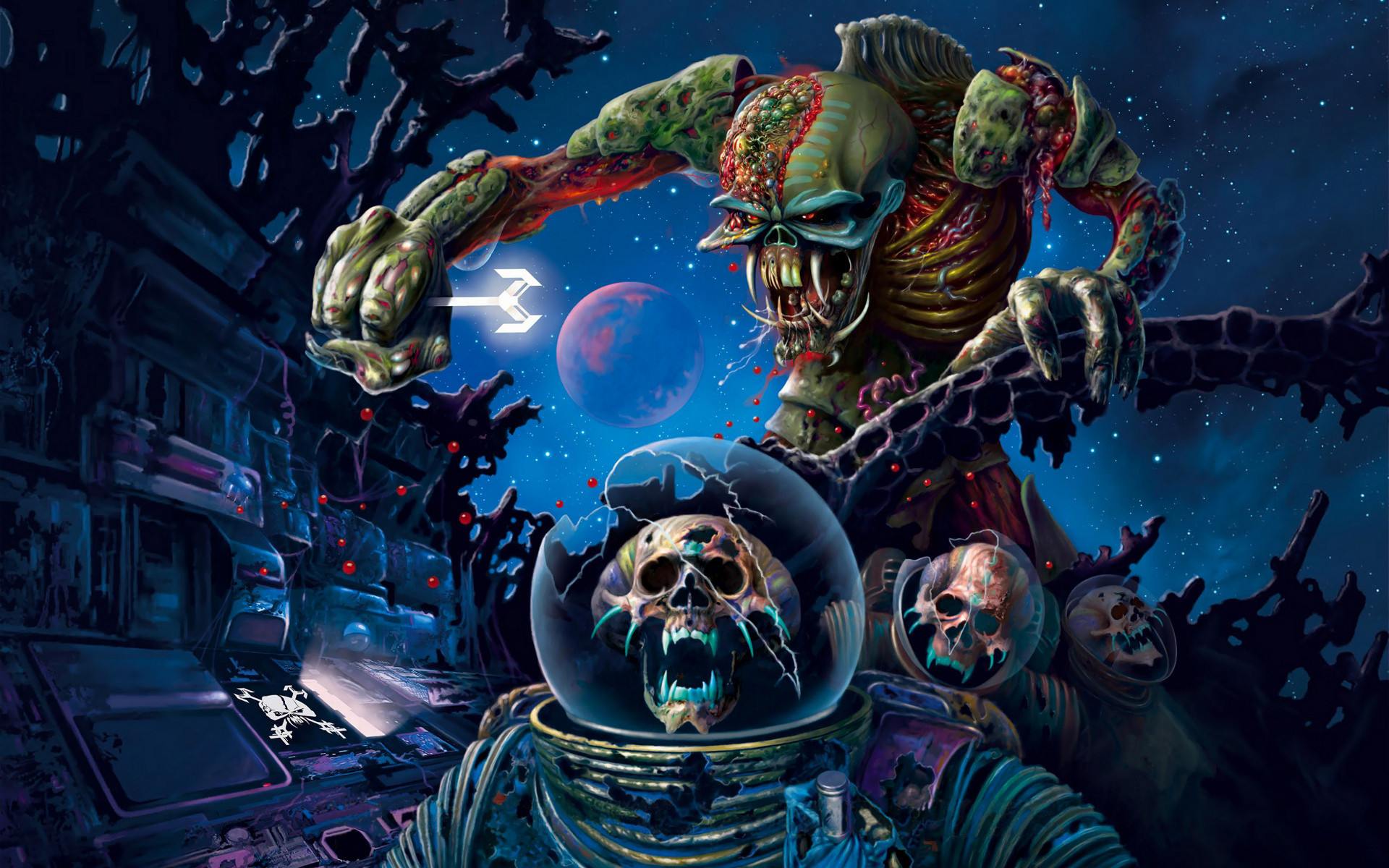 1920x1200 Iron maiden bands groups entertainment hard rock heavy metal eddie album  covers art skulls dark wallpaper |  | 25080 | WallpaperUP