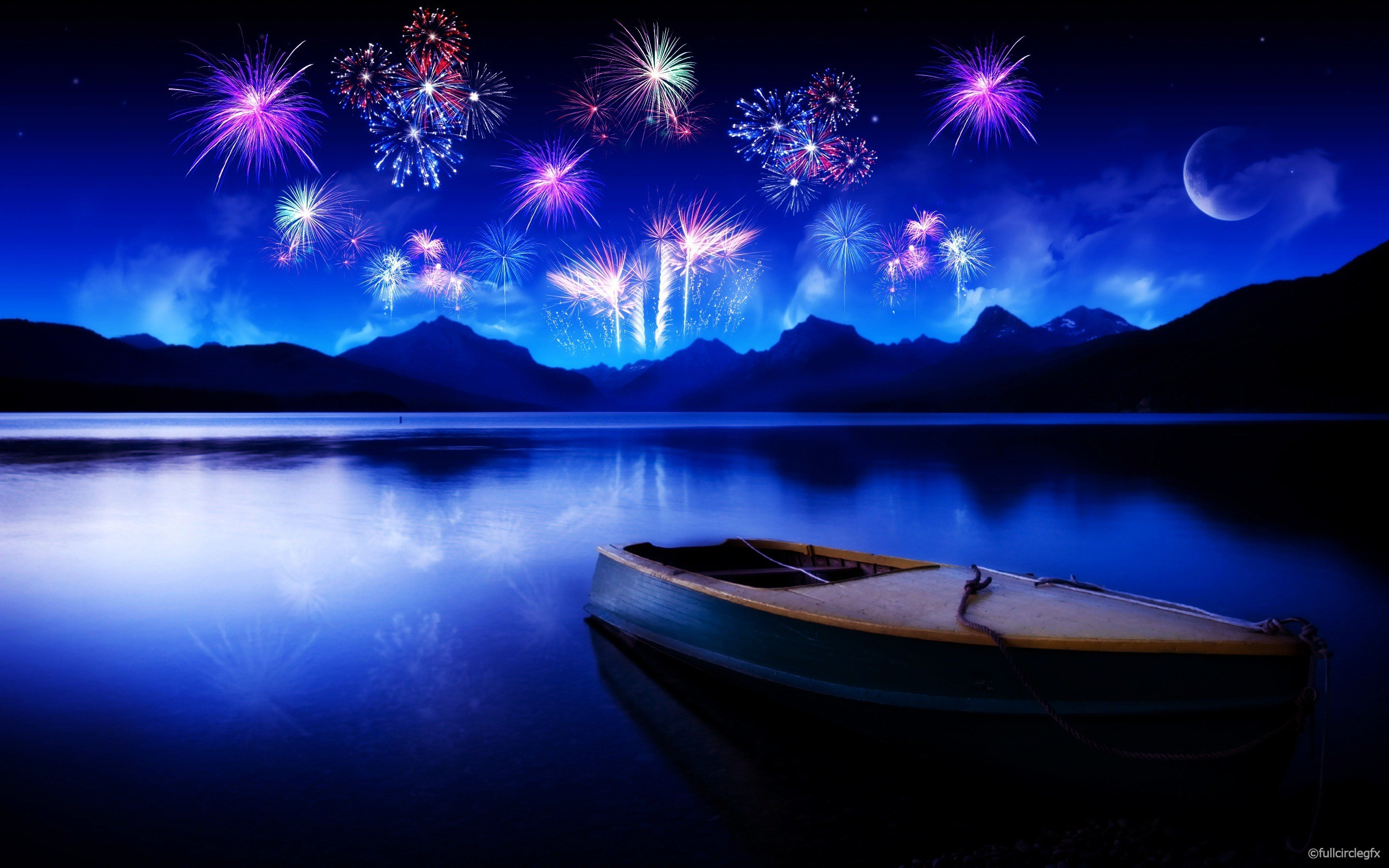 2560x1600 Best computer wallpapers 2012 – bestscreenwallpaper.com – fireworks to lake