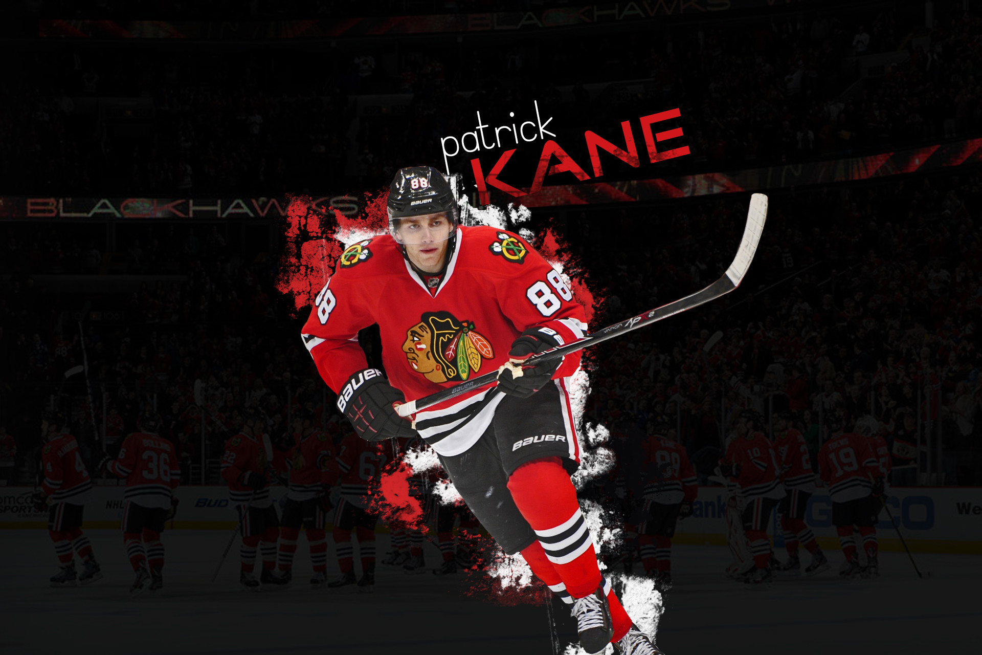 1920x1280 NHL Wallpaper featuring Patrick Kane from Chicago Blackhawks. Don't really  like Kane but
