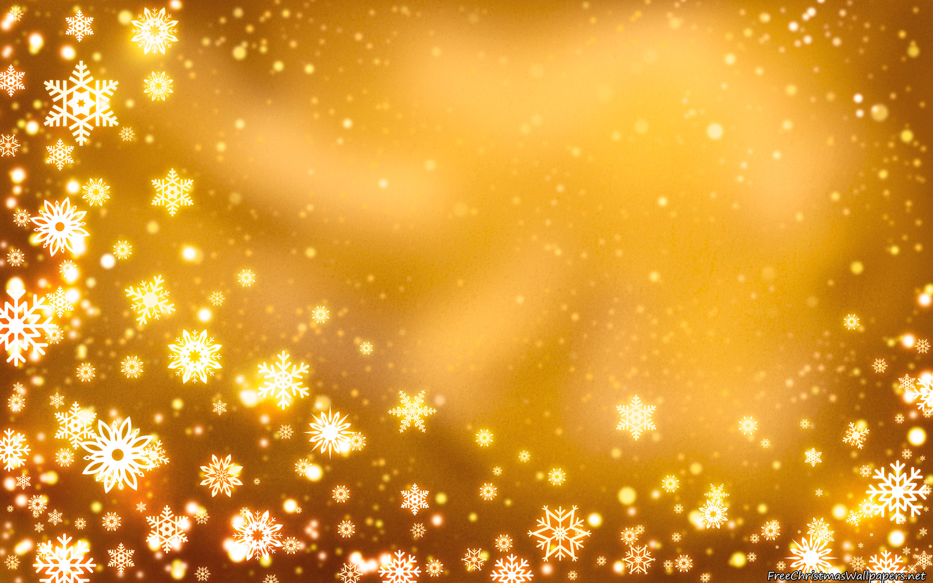 1920x1200 Golden Christmas Background. Â«