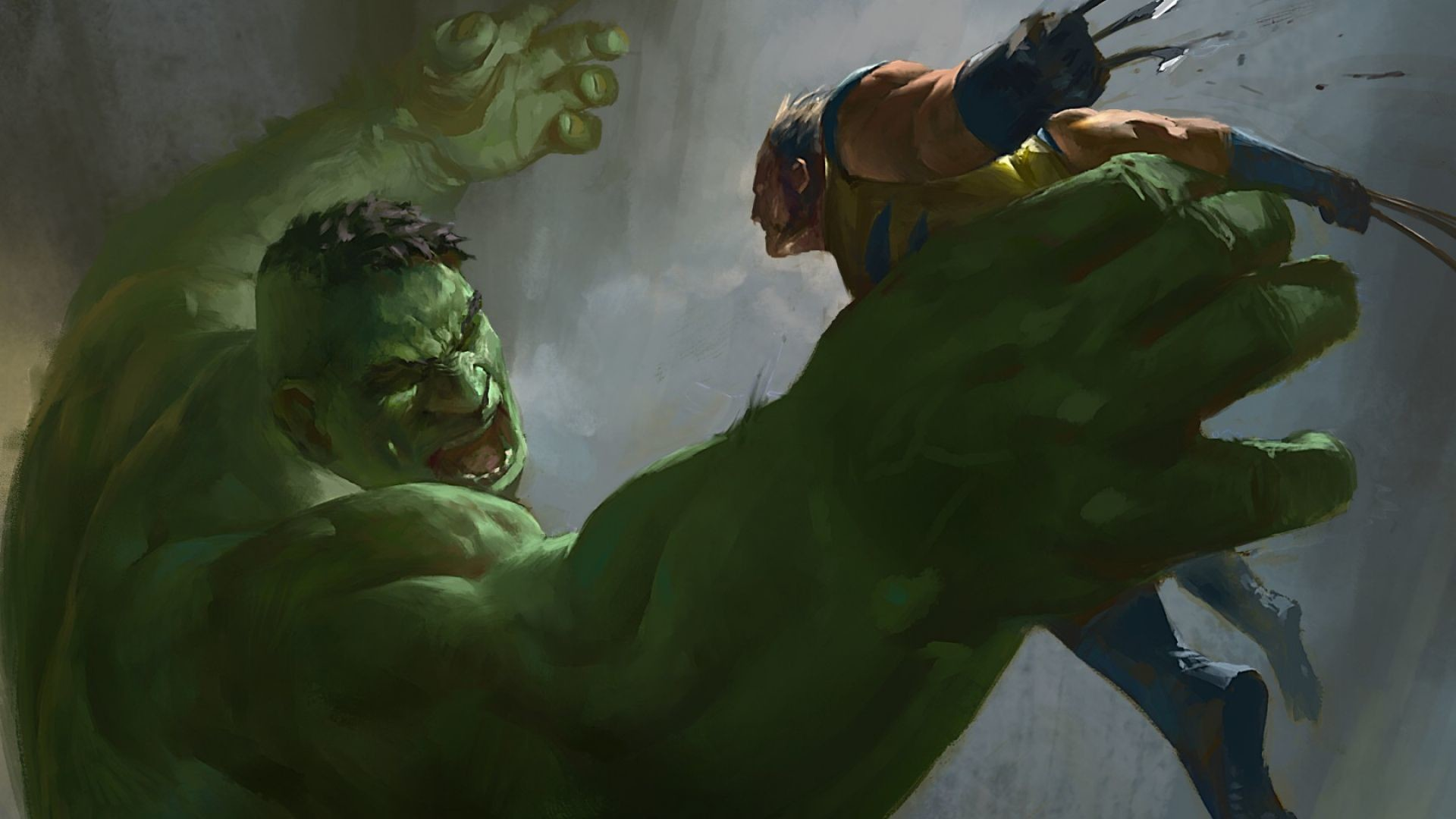 1920x1080 Download Wallpaper  Hulk, Wolverine, X-men, Marvel comics .