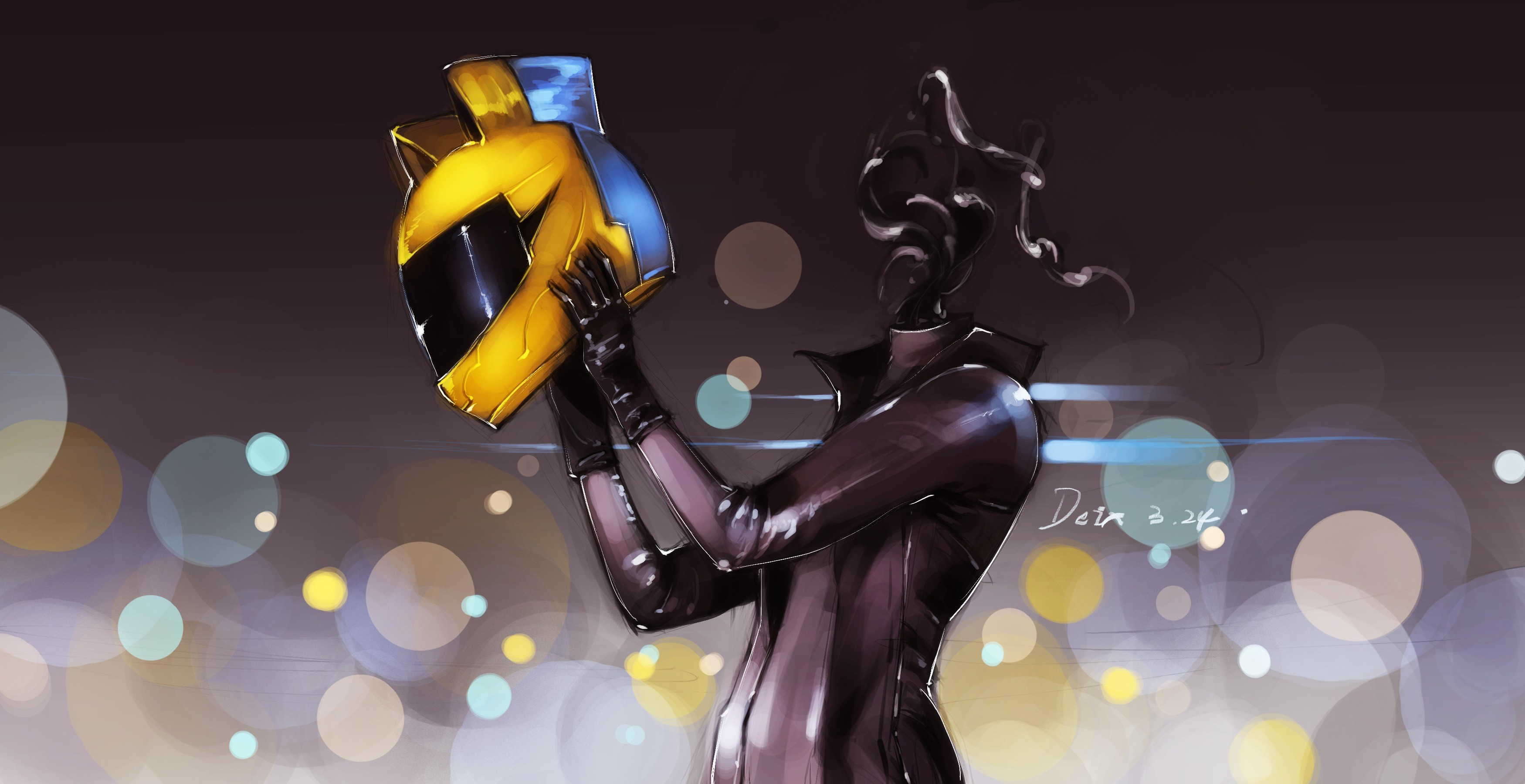 3500x1800  Wallpaper celty sturluson, durarara, anime