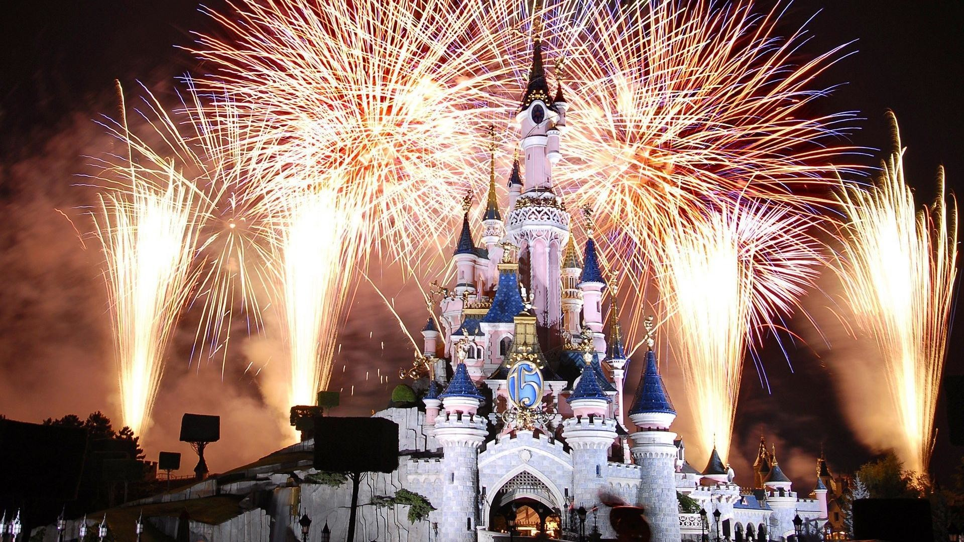 1920x1080 Magic Kingdom Fireworks HD desktop wallpaper : Widescreen : High .