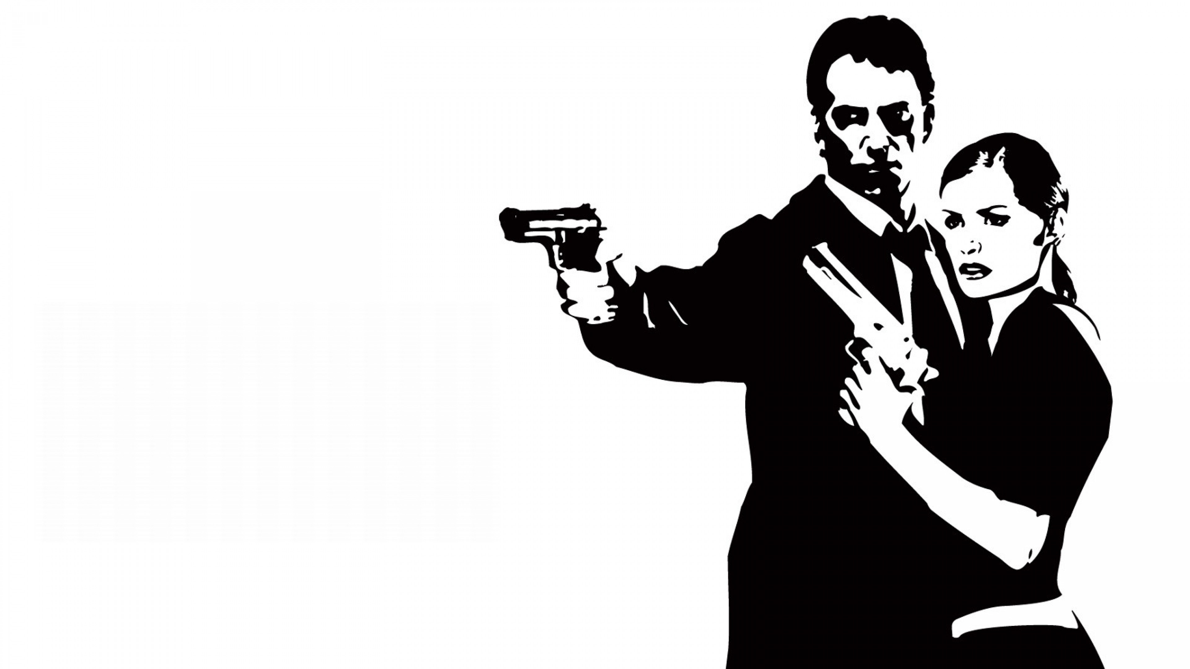 3840x2160  Wallpaper max payne, female, pistols, look, hands