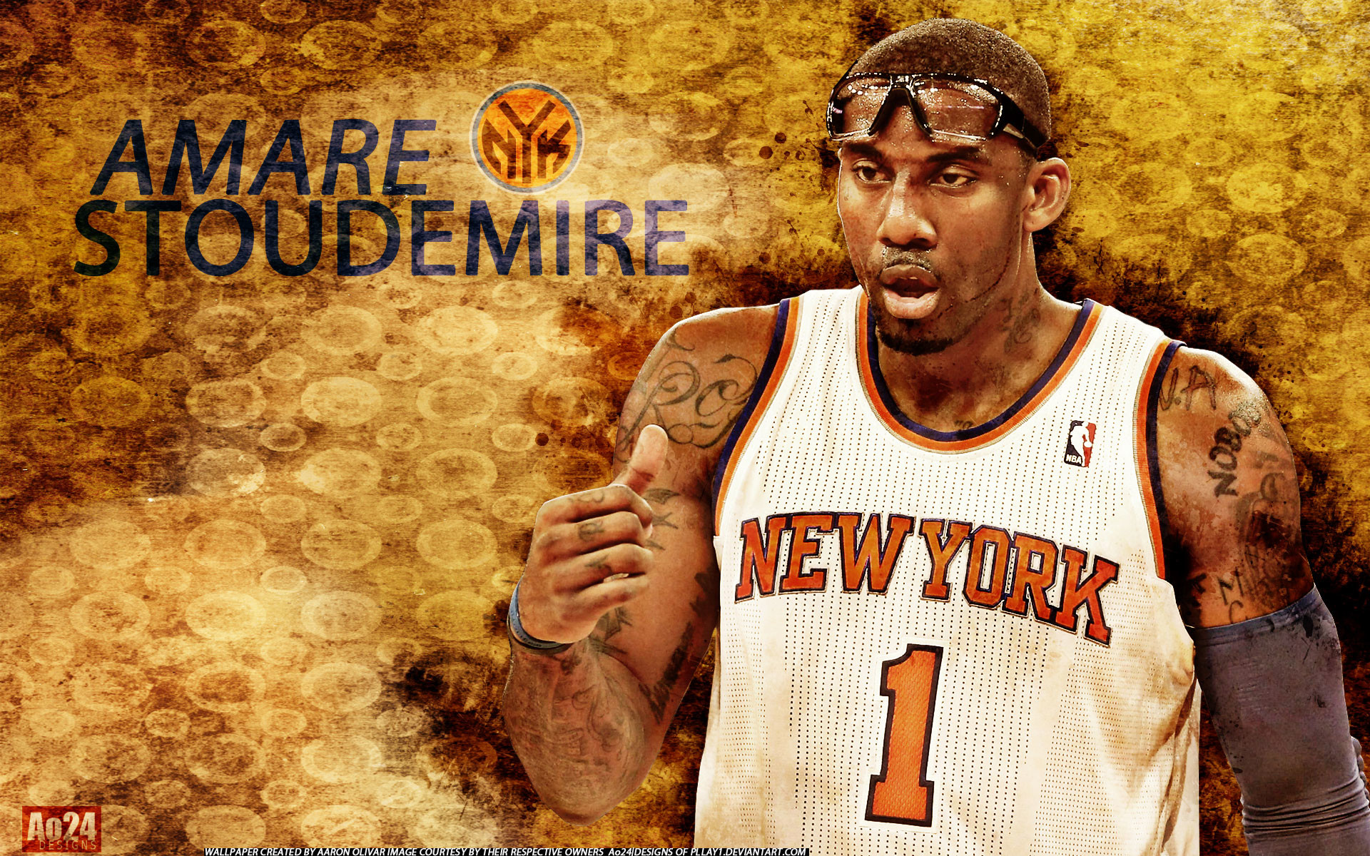 1920x1200 Amare Stoudemire Knicks 2013 1920×1200 Wallpaper
