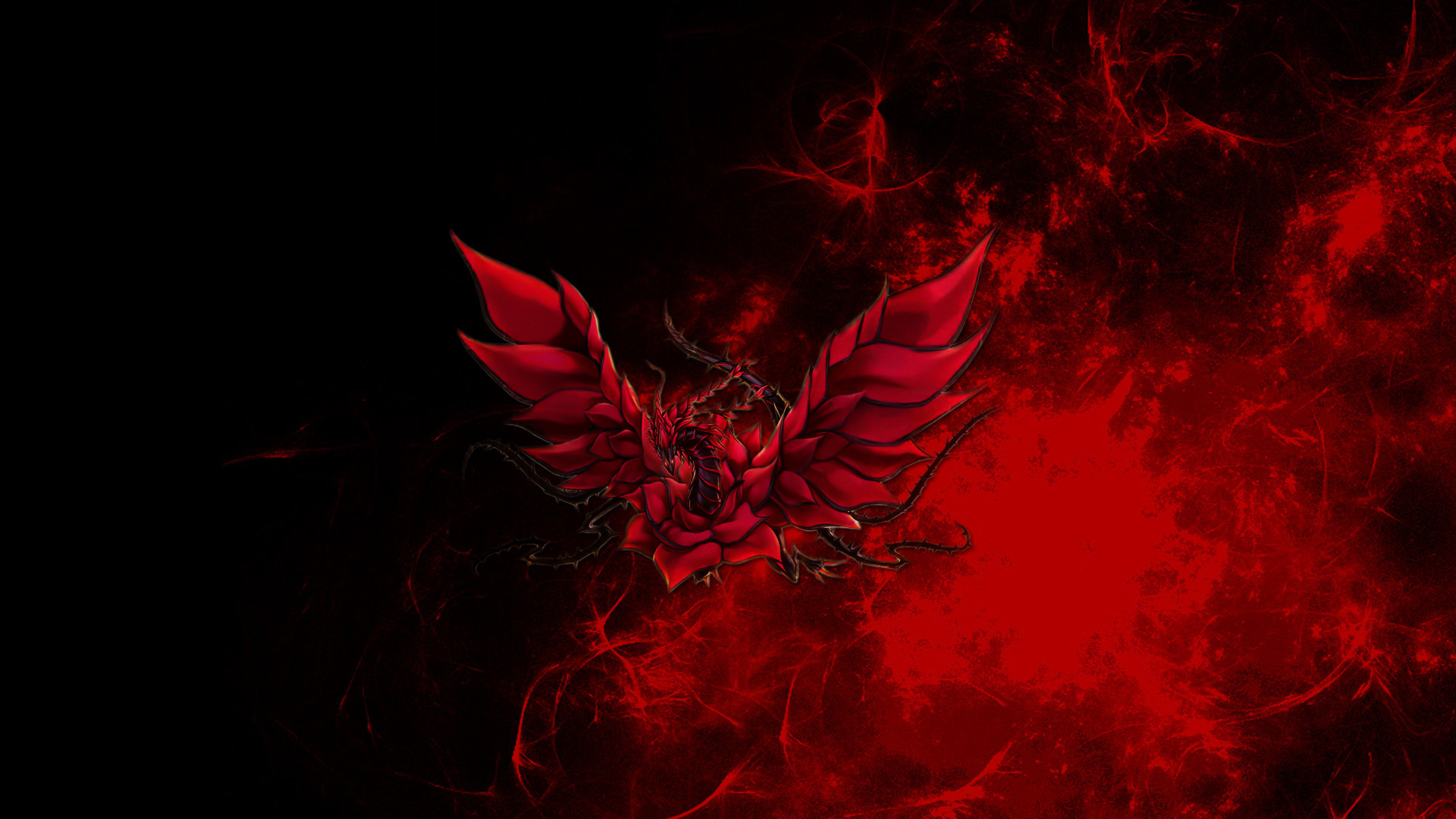 1920x1080 DeviantArt: More Like Black Rose Dragon Wallpaper by RJGiel