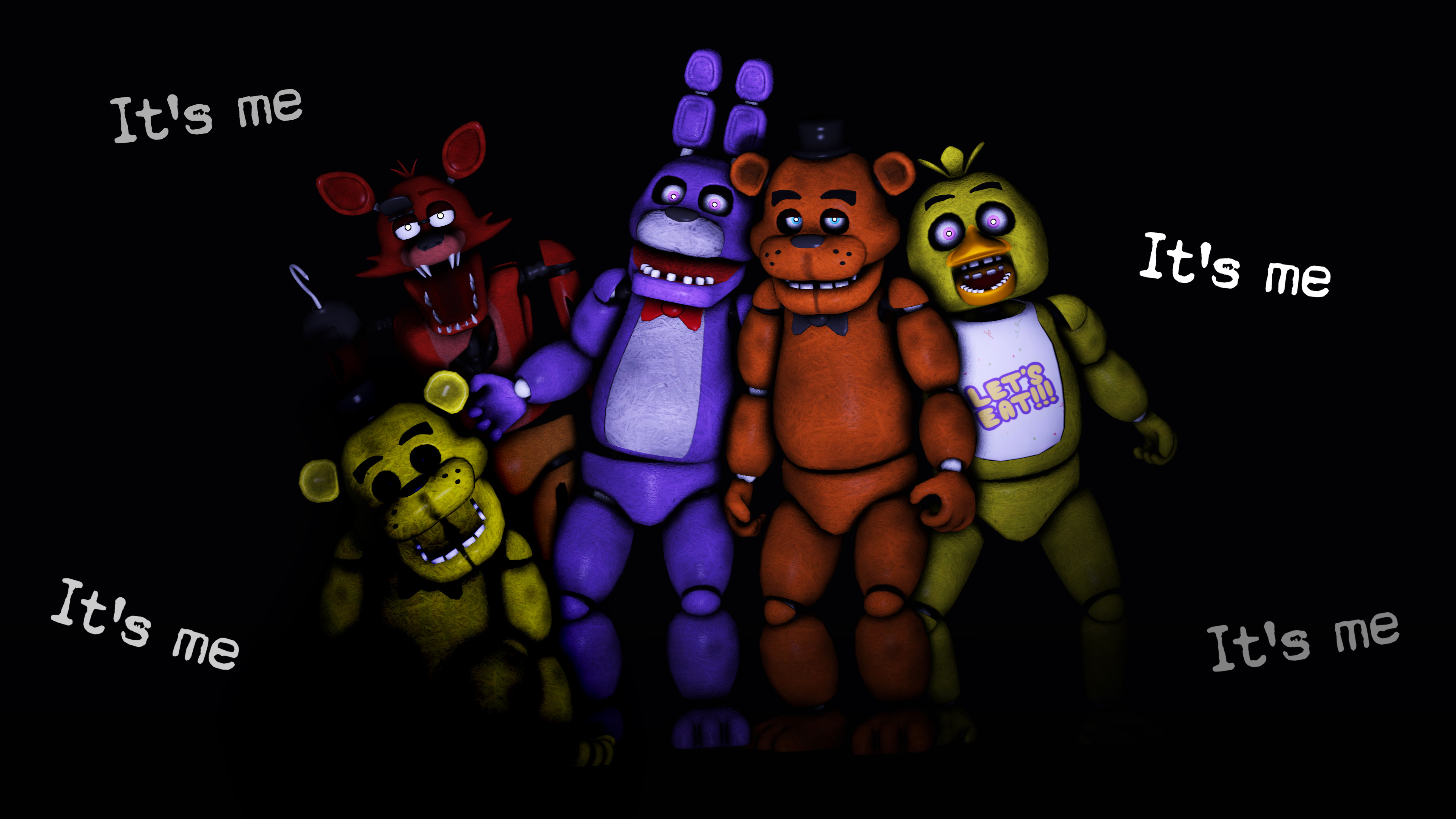3840x2160 SFM] FNAF Animatronics by LoneWolfHBS on DeviantArt