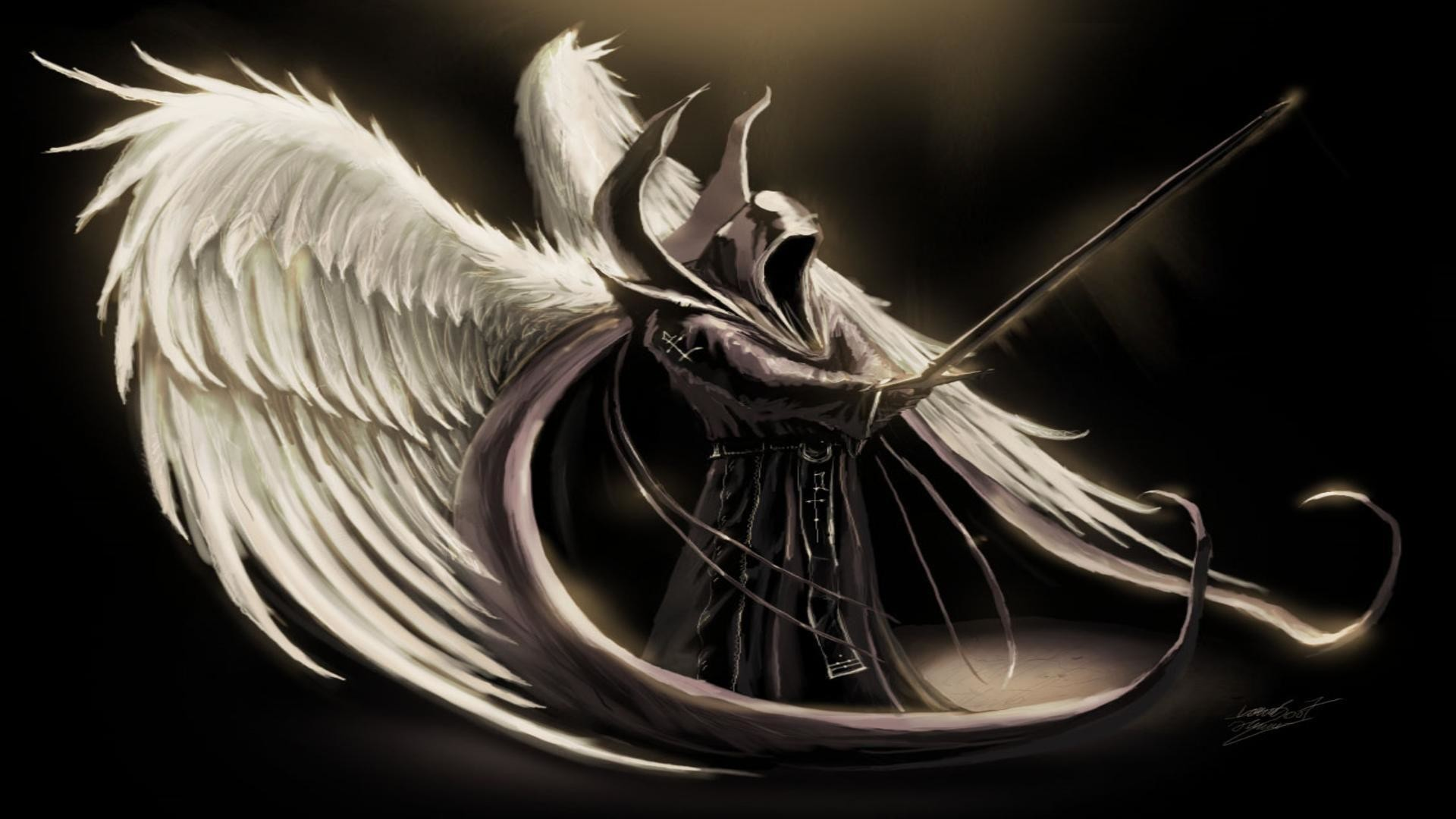 1920x1080 Dark angel wings free desktop background - free wallpaper image