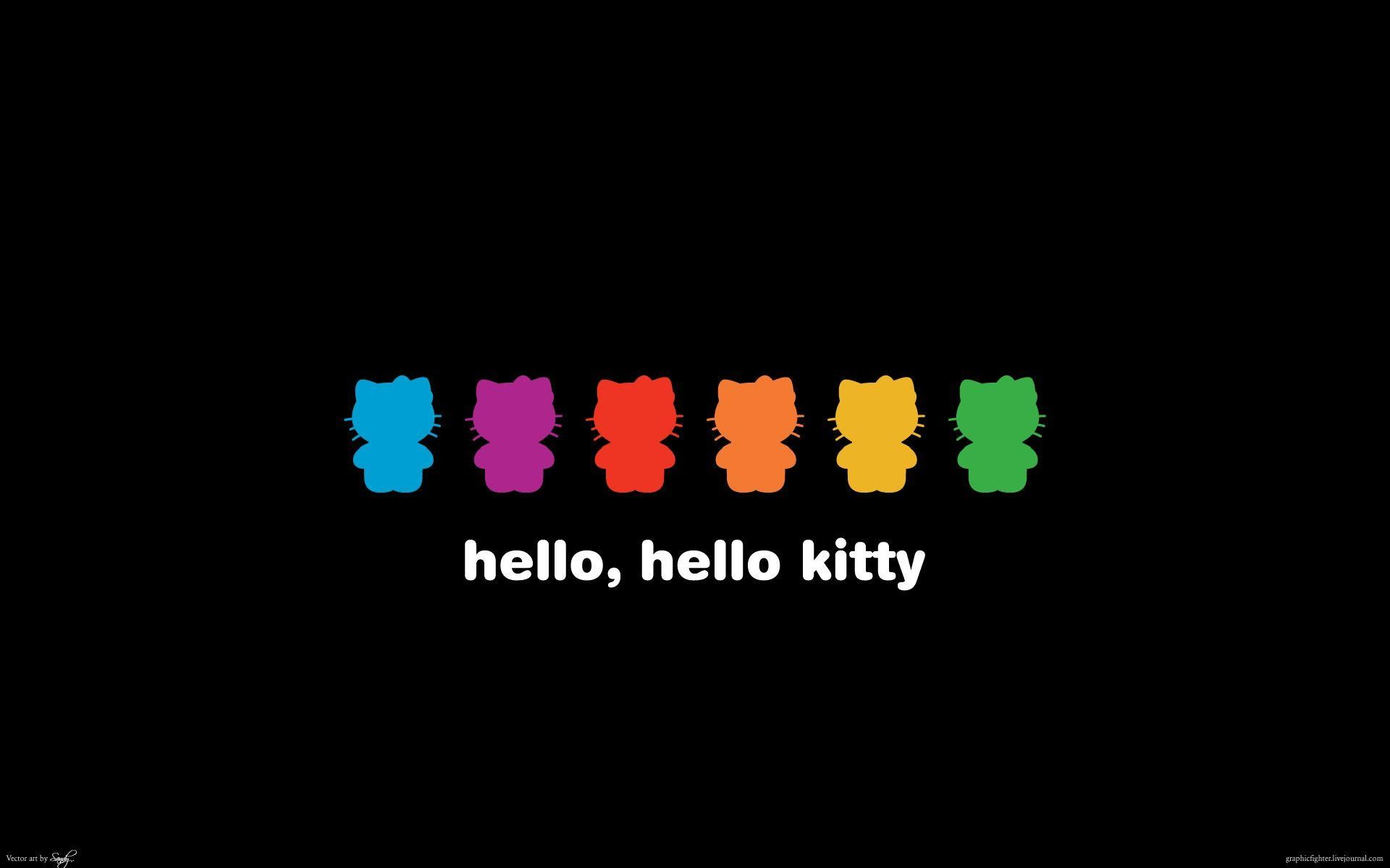 1920x1200 Hello Kitty Black Backgrounds - Wallpaper Cave