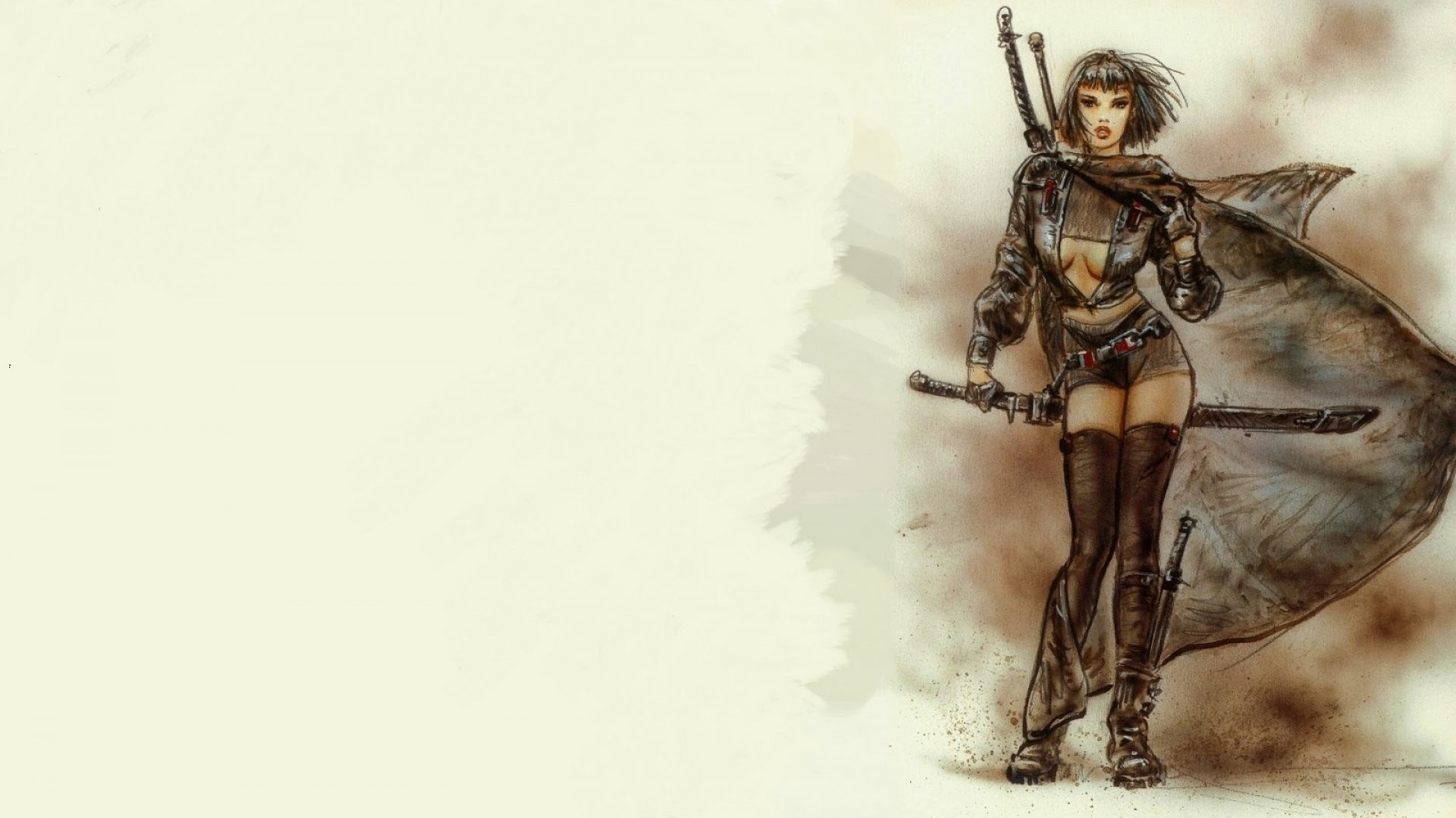 1920x1080 LUIS ROYO fantasy warrior painting art sexy babe wallpaper |  |  407617 | WallpaperUP