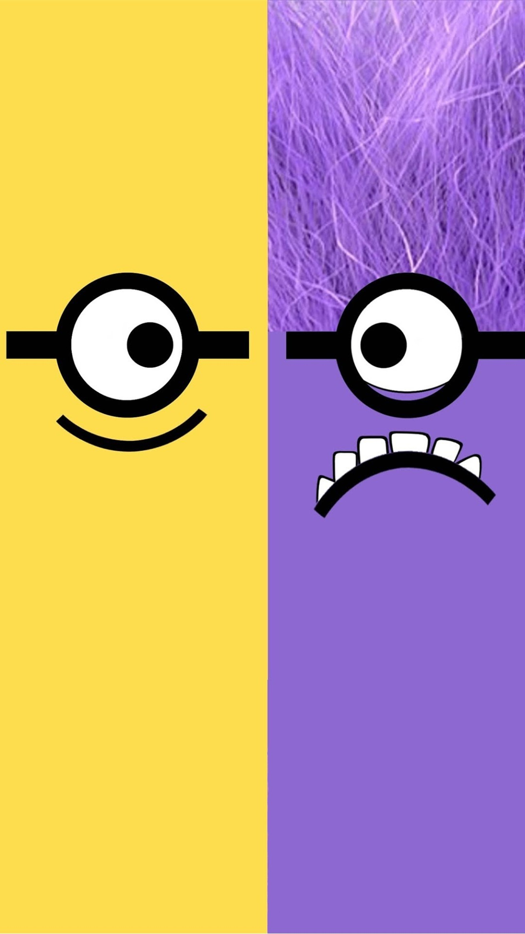 1080x1920 Despicable Me yellow and purple minion iphone 6 plus wallpaper HD for 2014  Halloween #2014