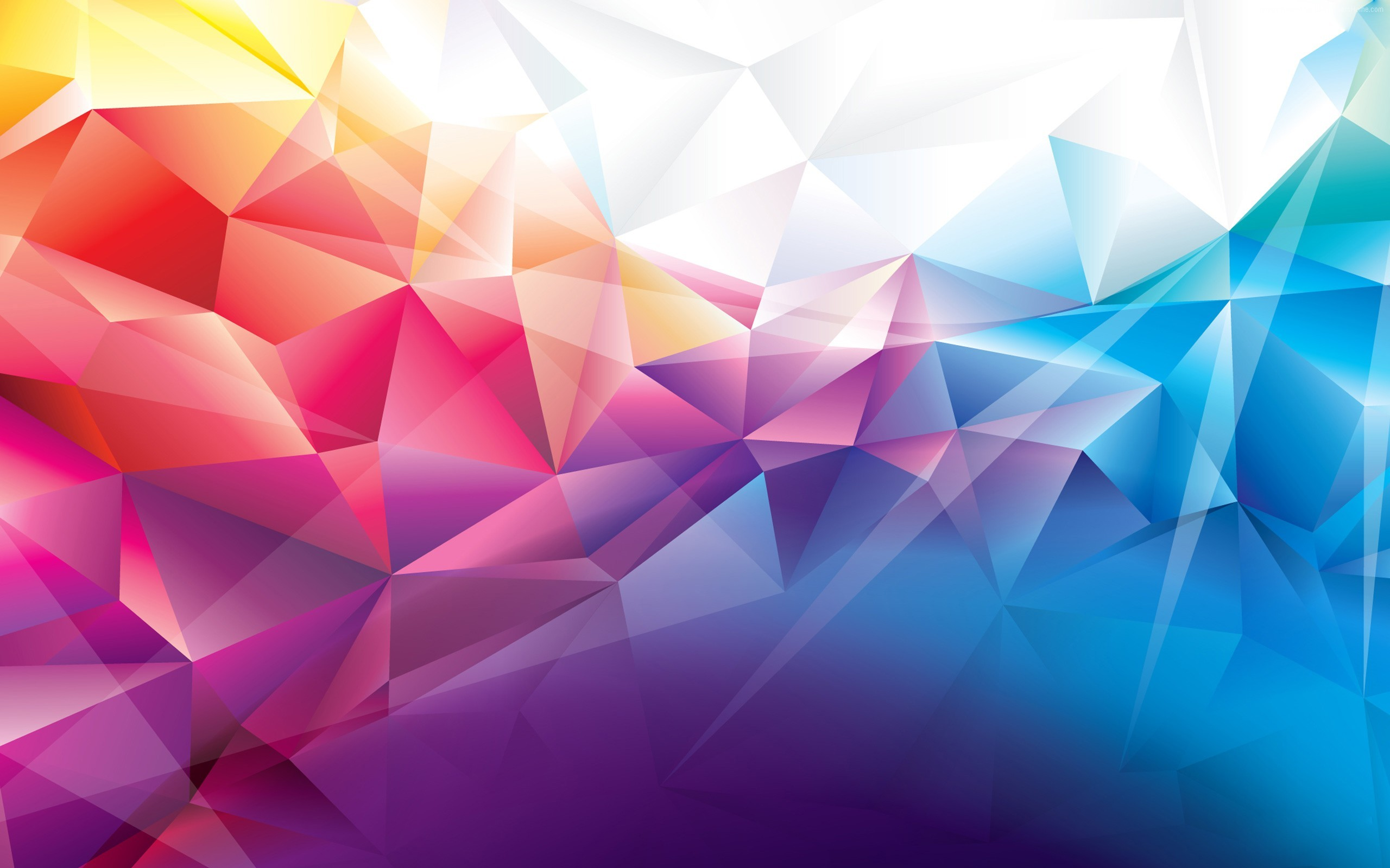 2560x1600 Description: Download Colorful Polygons 3D & Abstract wallpaper ...
