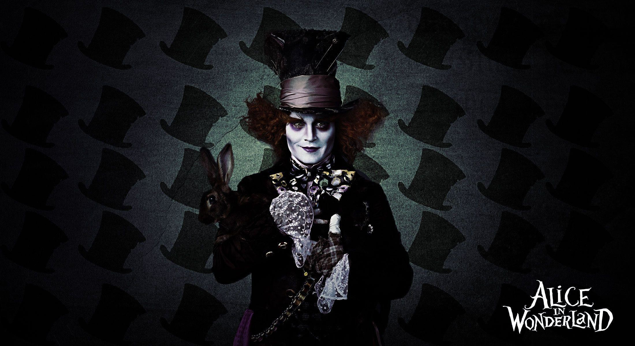 2200x1200 Free Wallpapers - Mad Hatter Alice In Wonderland wallpaper