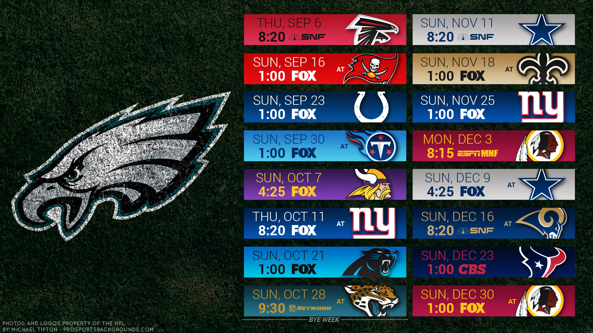 1920x1080 Philadelphia Eagles 2018 schedule turf football logo wallpaper free pc  desktop computer