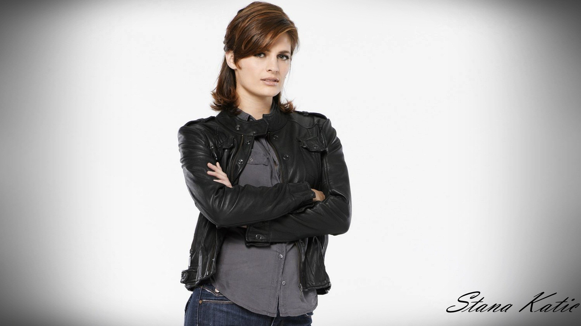 1920x1080 Beautiful Acterss Stana Katic HD Wallpaper