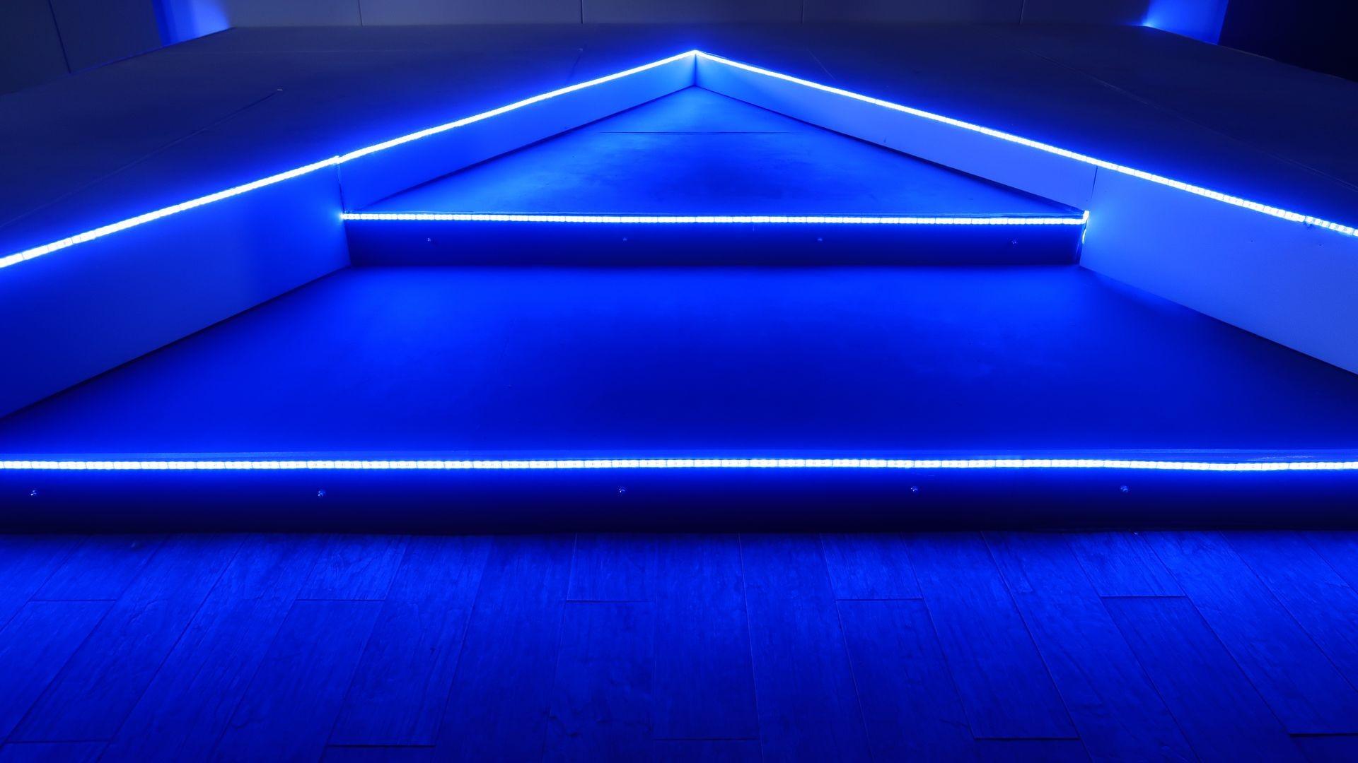 Blue Neon Lights Wallpaper