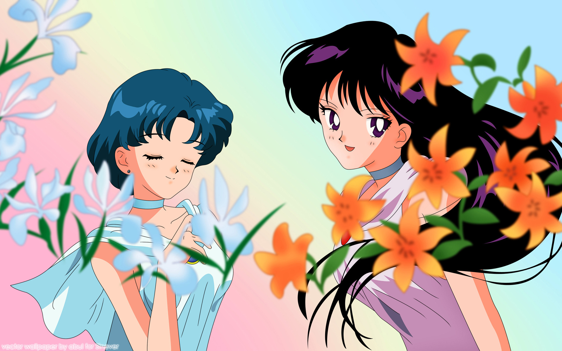 1920x1200 HD Wallpaper and background photos of Princess Mercury and Princess Mars  for fans of Sailor mercury and Sailor mars images.