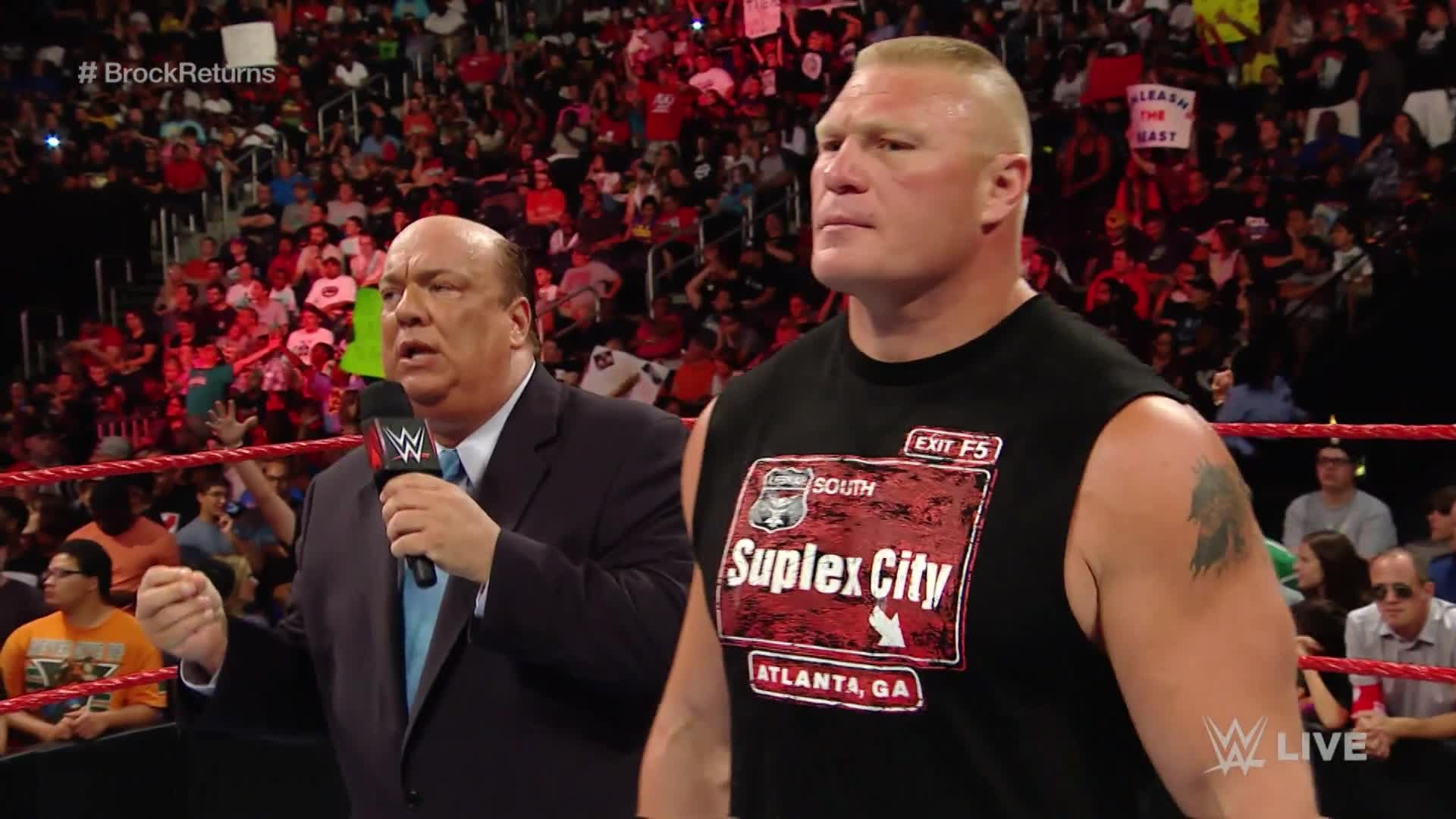 1920x1080 Brock Lesnar's return to Raw turned sour as he was attacked by Randy Orton,  just weeks before the two lock horns at SummerSlam