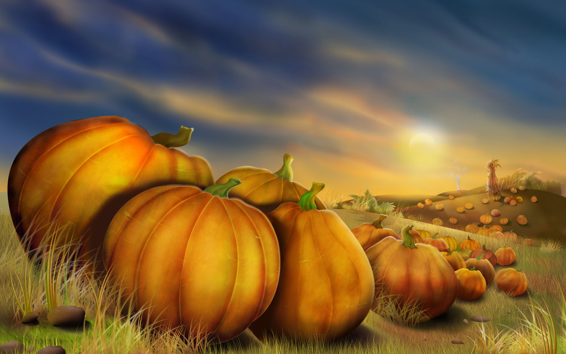 1920x1200 3D Thanksgiving HD Background.