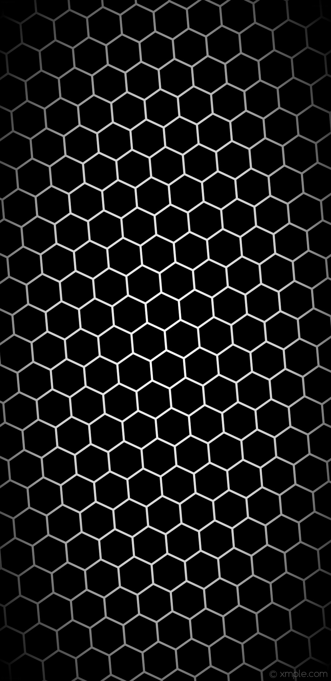 1080x2220 wallpaper black hexagon white gradient glow grey light gray #000000 #ffffff  #d3d3d3 diagonal