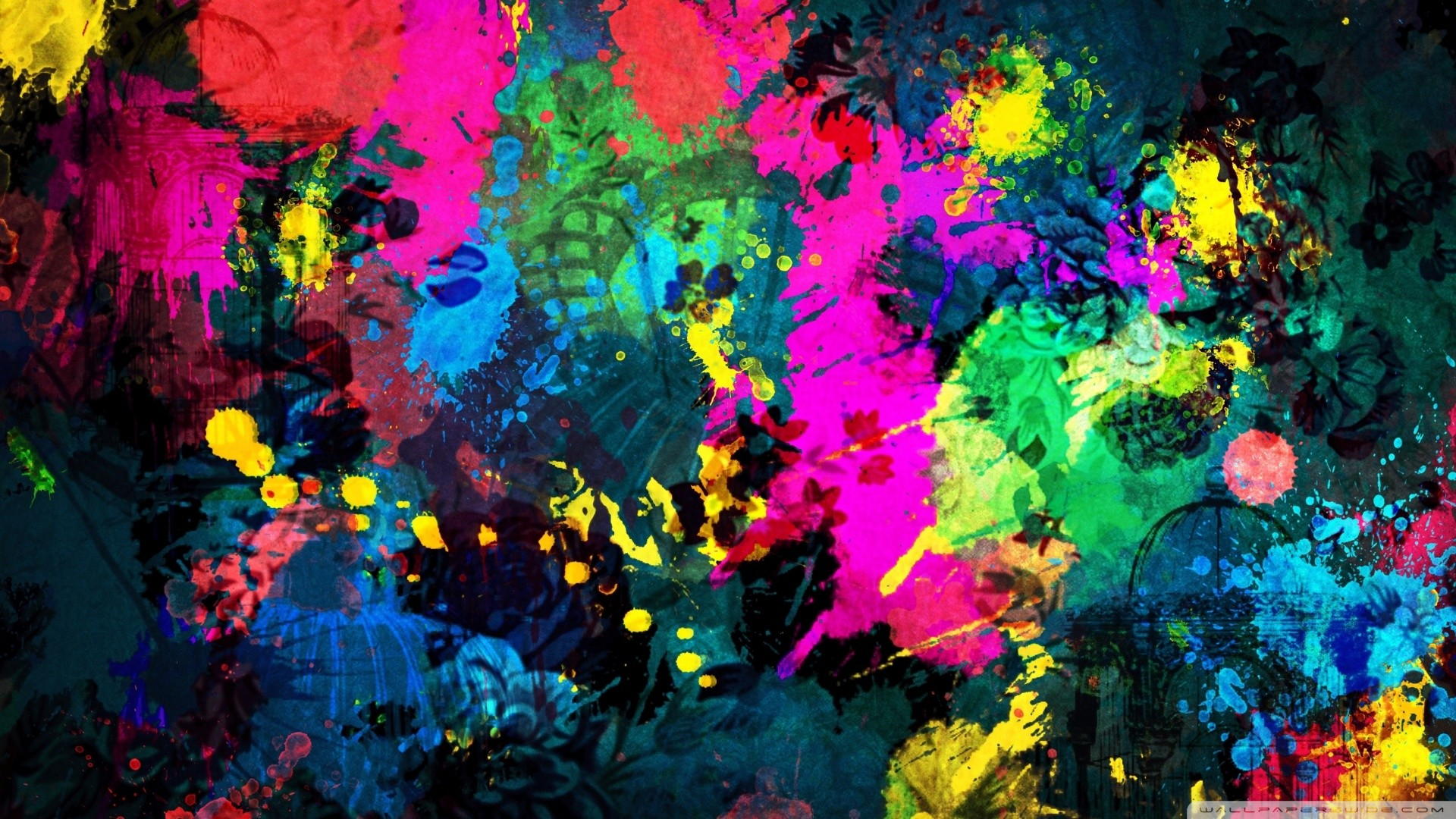 1920x1080 iPT PC Wallpapers: Cool Splatter, by Royce In