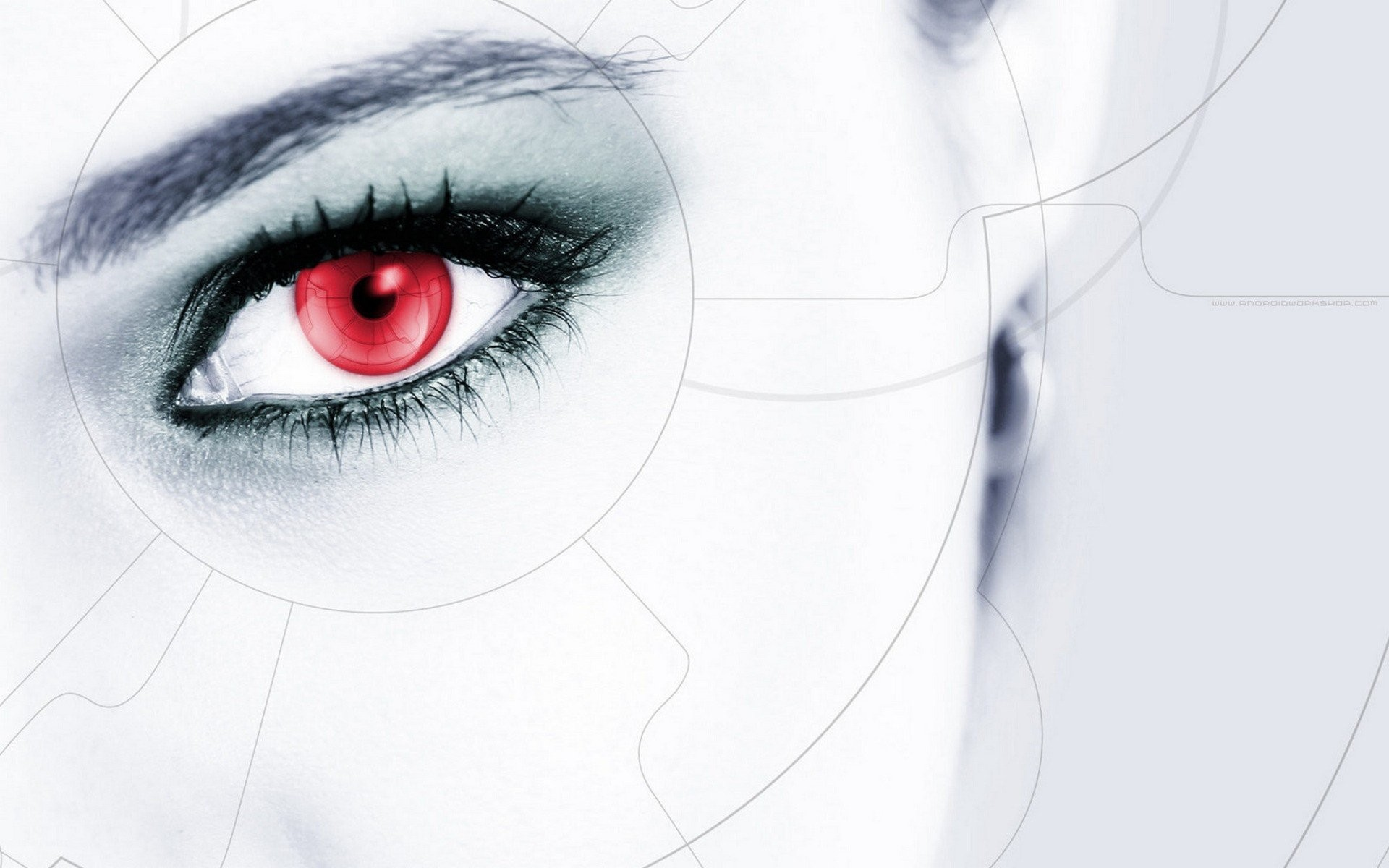 1920x1200 Close-up futuristic red eyes cyber girls wallpaper |  | 247028 |  WallpaperUP