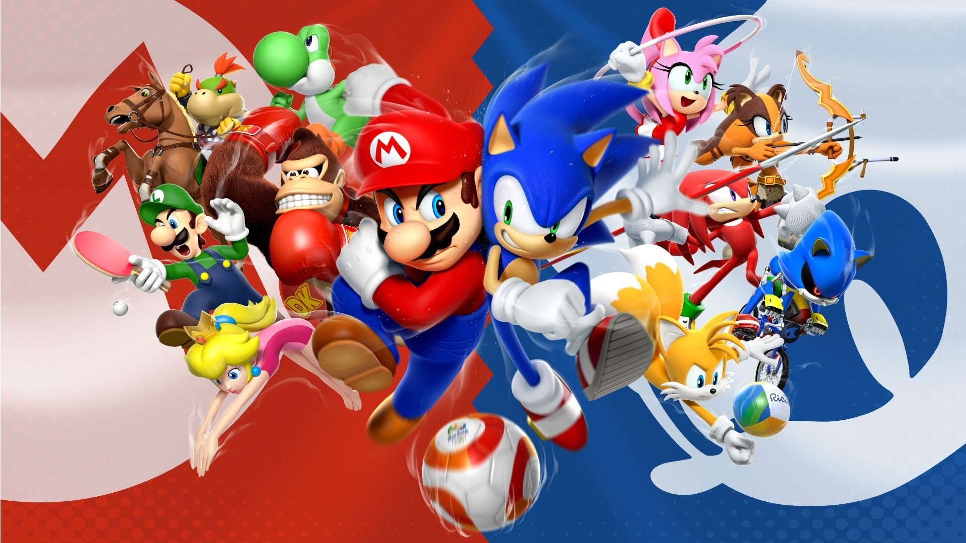 Mario and sonic wallpaper 76 images - Jeux de sonic vs shadow ...