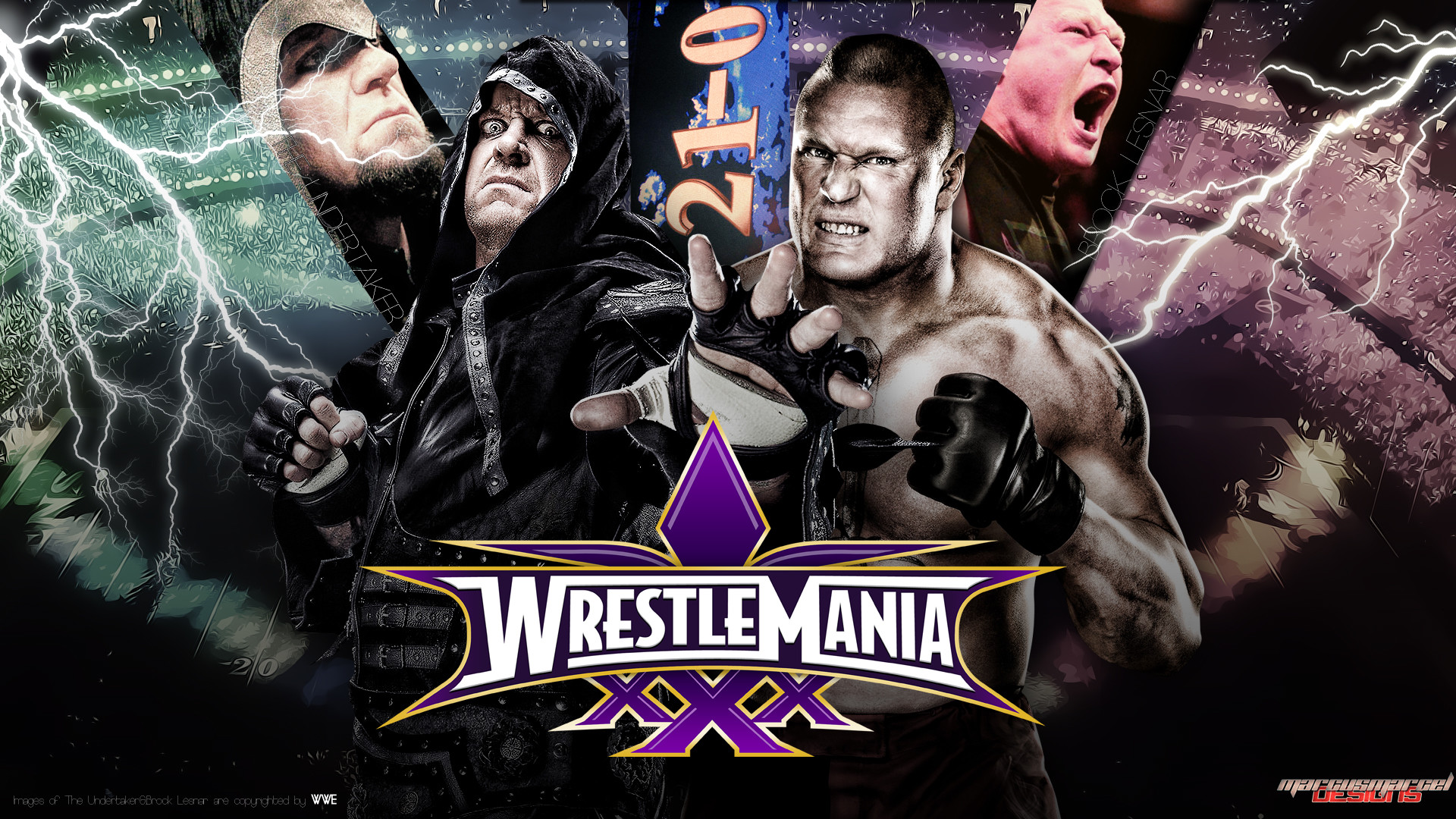 1920x1080 RicGrayDesign 9 0 WrestleMania XXX - Undertaker vs Brock Lesnar by  MarcusMarcel