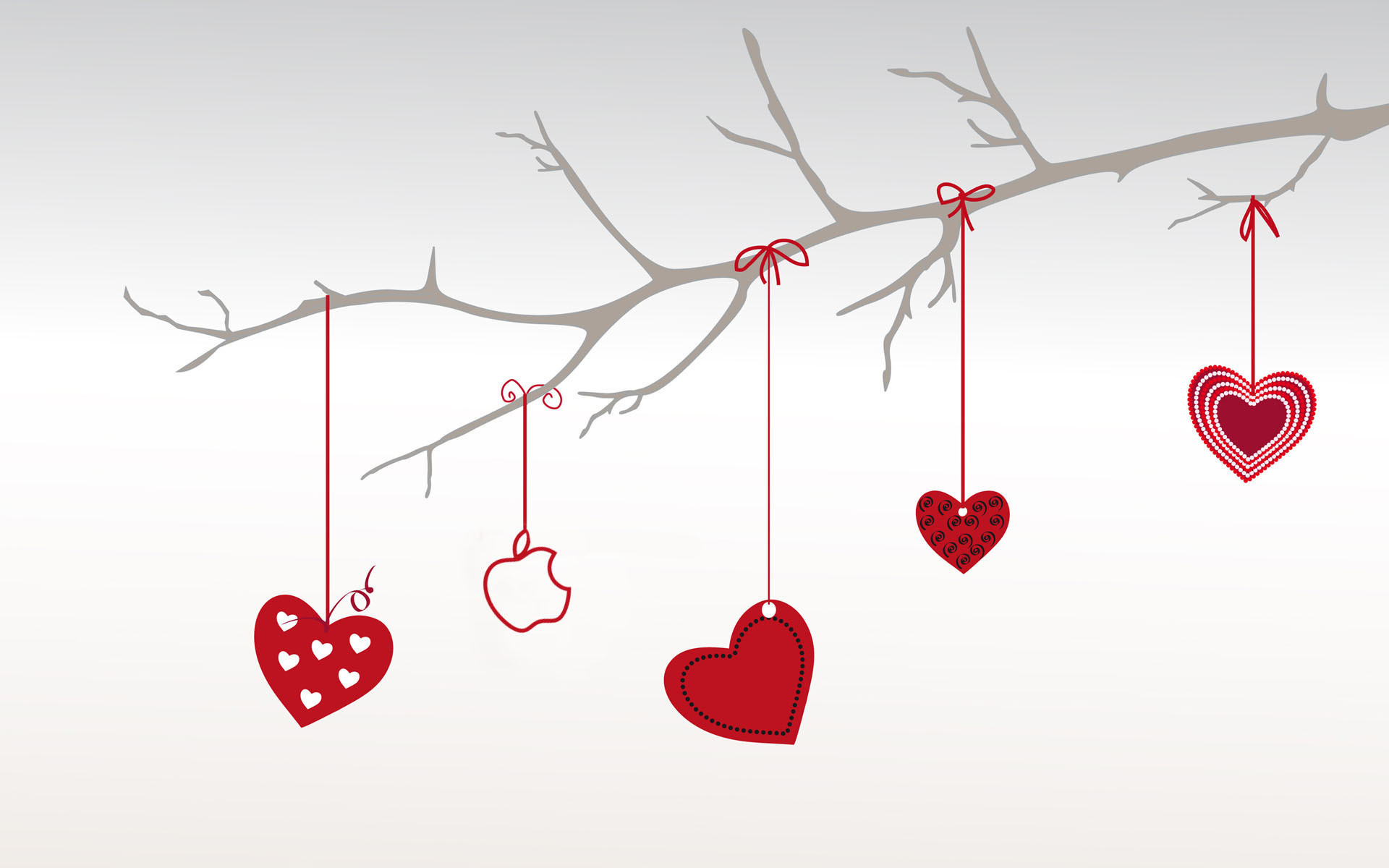 1920x1200 Heart branch for valentine day Background
