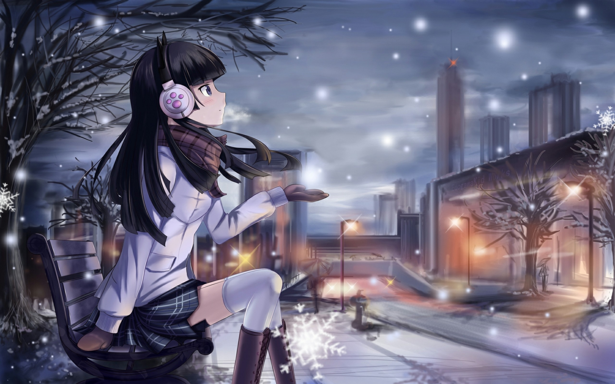 2560x1600 Kawaii Anime images Beautiful girl (✿◠‿◠) HD wallpaper and background photos