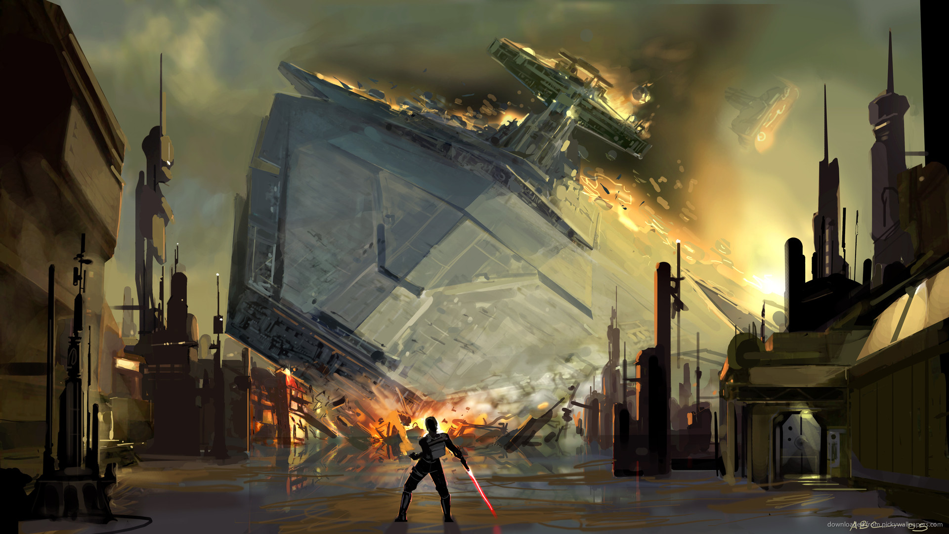 1920x1080 SWTFU Star Destroyer force pull picture