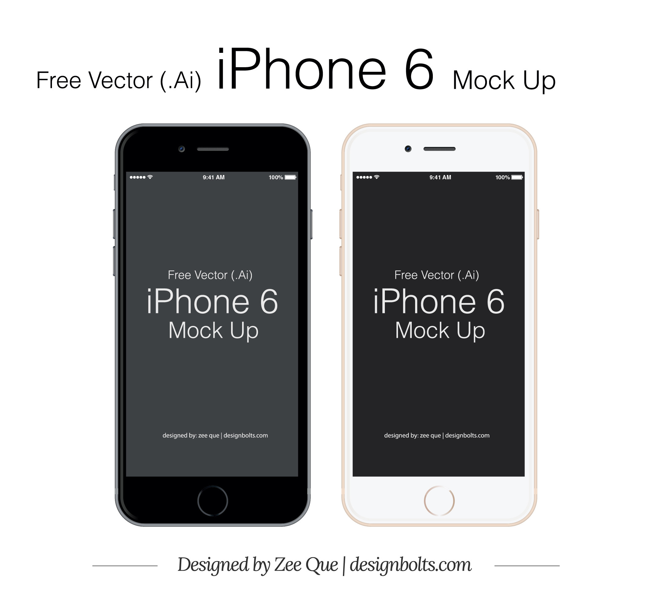 2133x1997 Free Vector IPhone 6 Mockup In Ai Eps Format