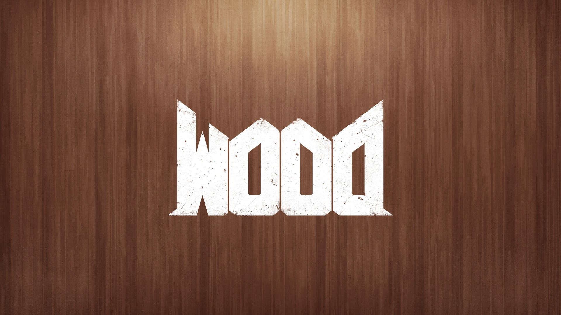1920x1080 General  wood Doom (game) video games humor upside down letter  text wooden surface
