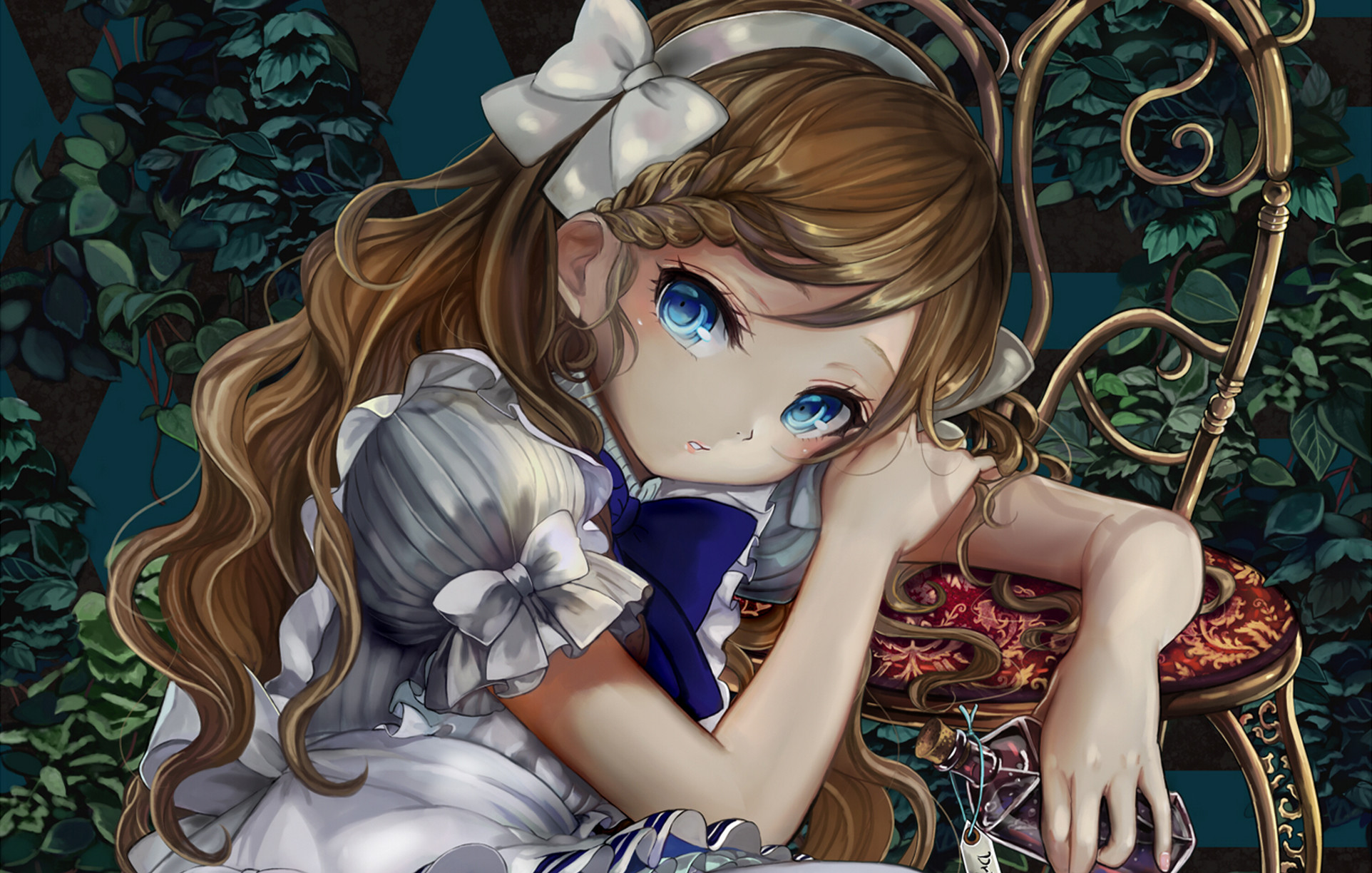1924x1224 Wallpaper Alice in wonderland, Anime, Girl, Art