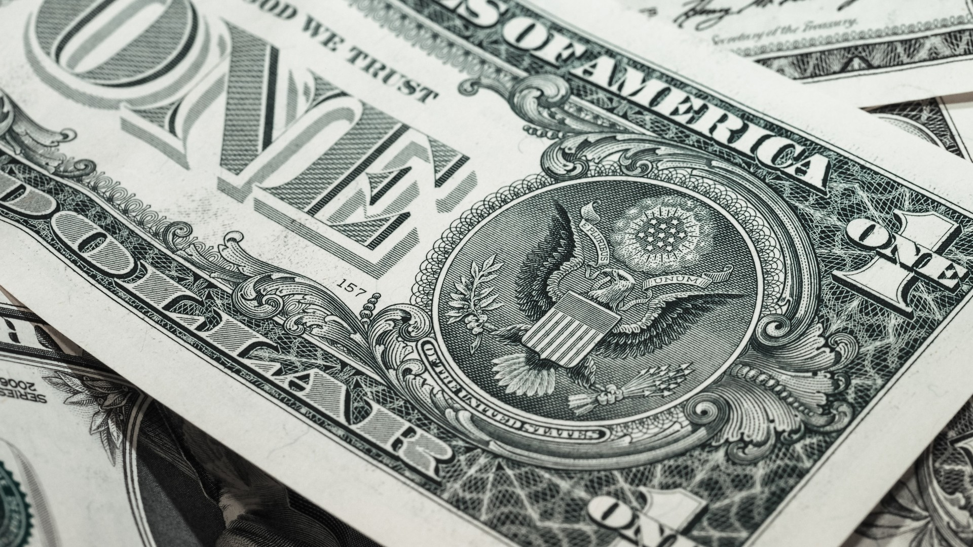 1920x1080  Wallpaper dollar, bill, banknote