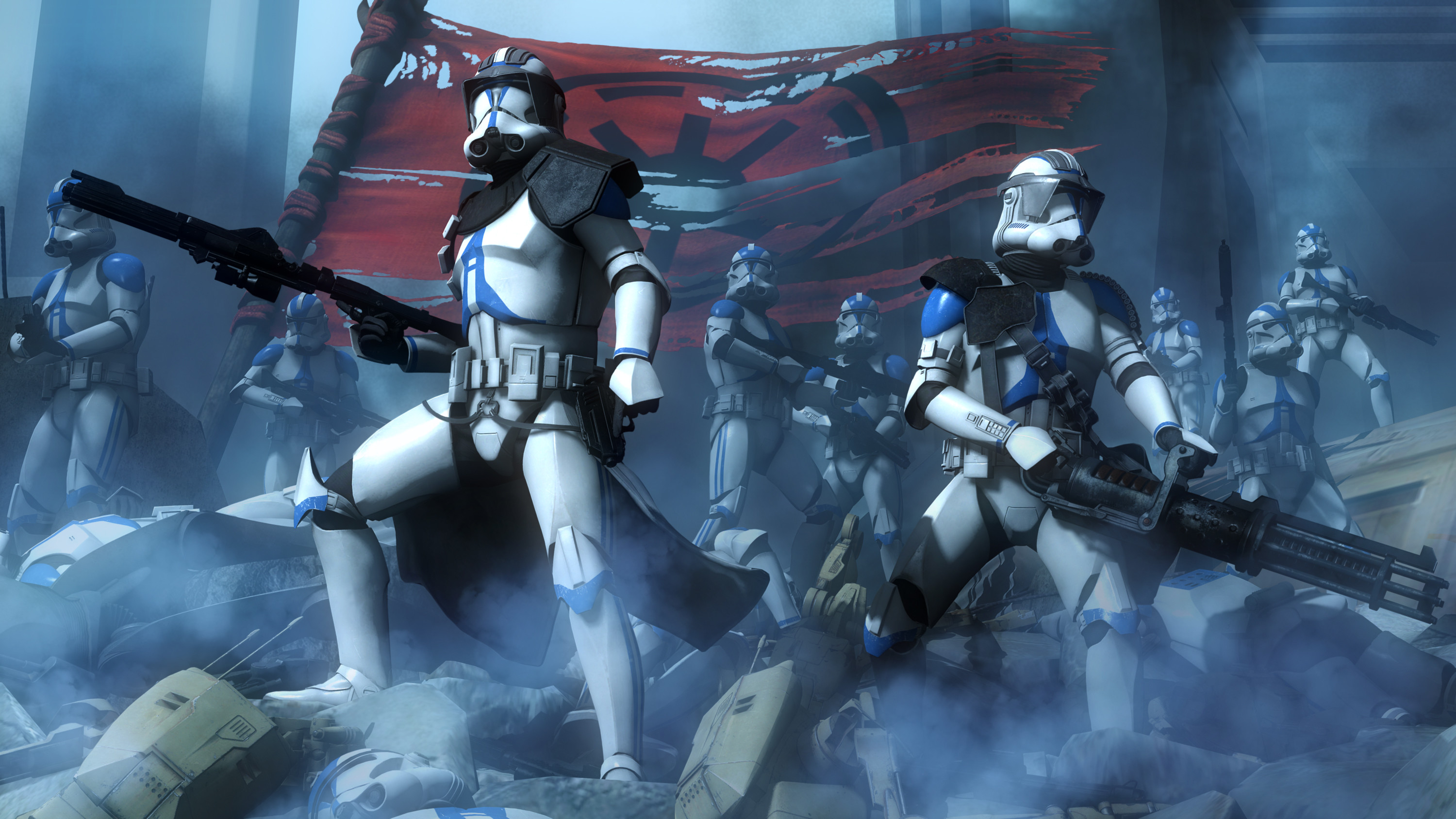 3000x1688 Movie - Star Wars: The Clone Wars Star Wars Scout Trooper Weapon Wallpaper
