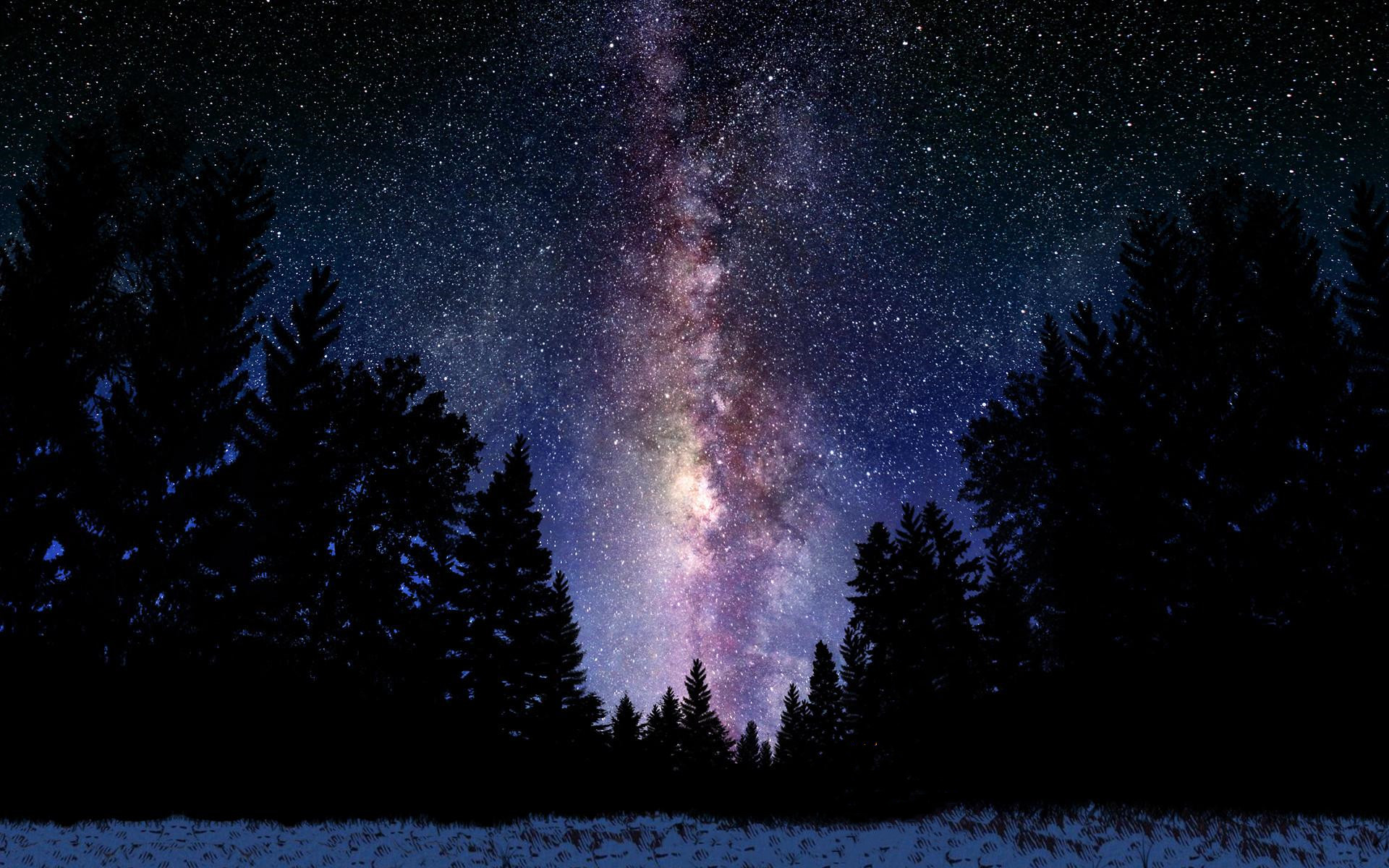 1920x1200 Milky Way Logo. Milky Way Galaxy From Earth Wallpaper ...