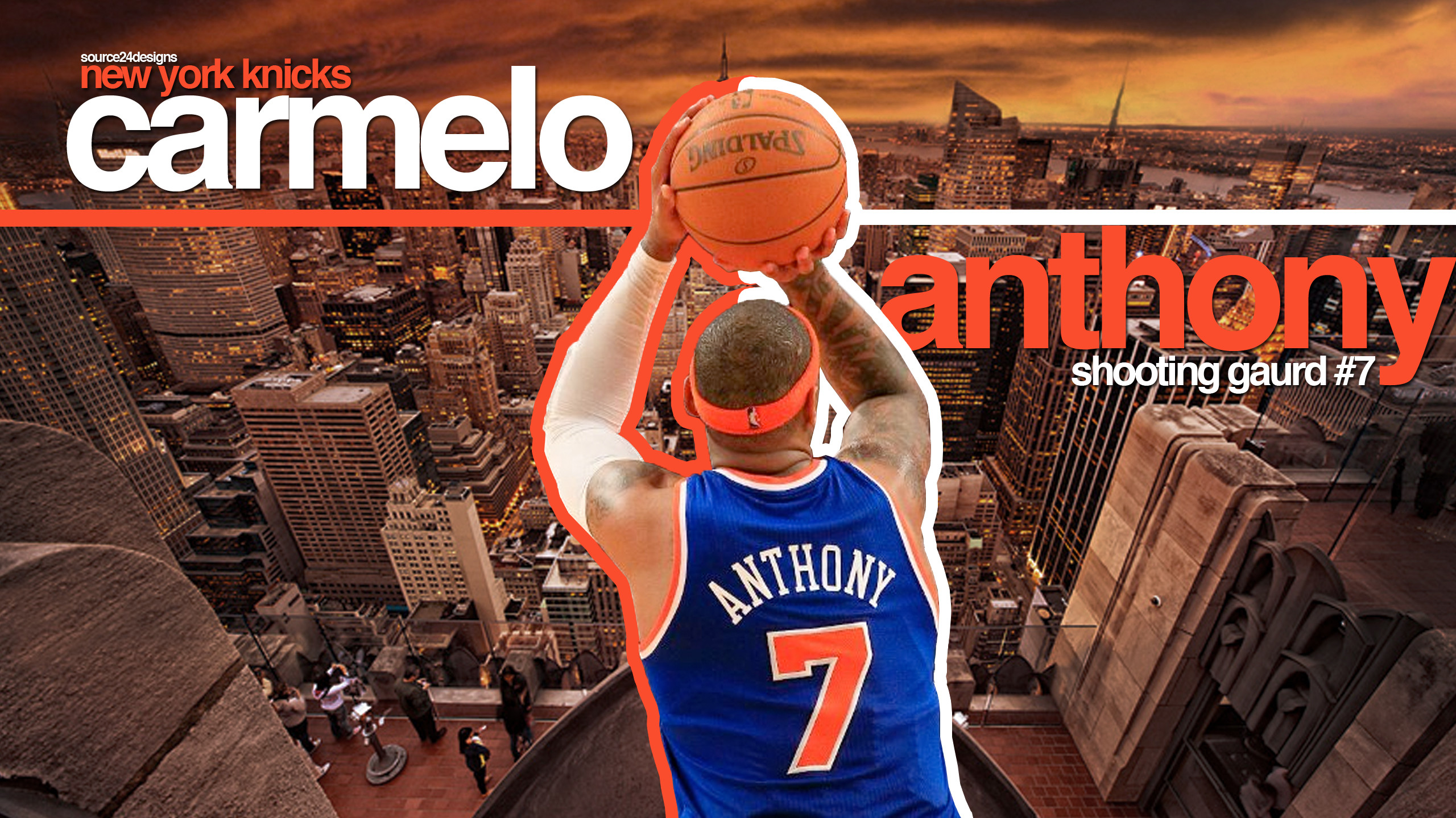 2560x1440 Amusing Carmelo Anthony New York Knicks Hd Nba Basketball Shooting Guards  Sport Wallpaper