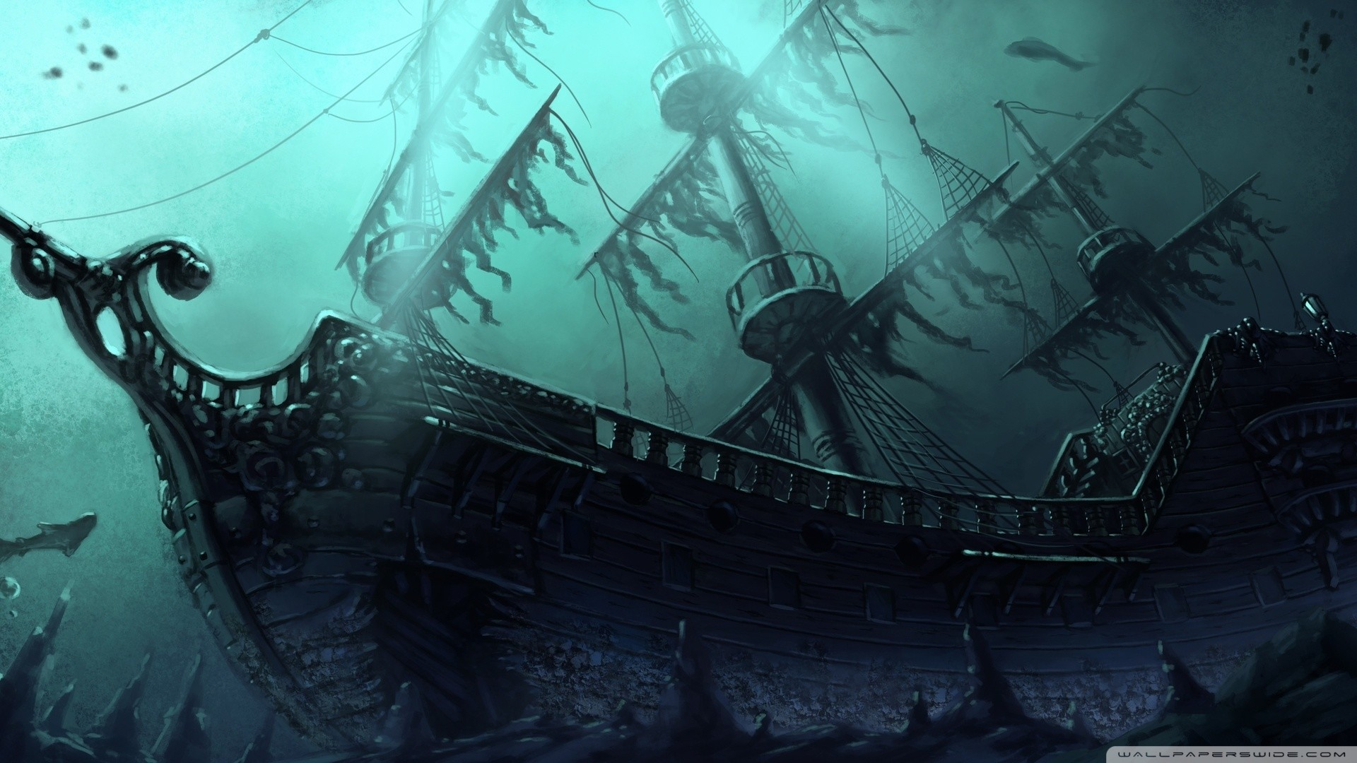 1920x1080 pirate ships wallpaper