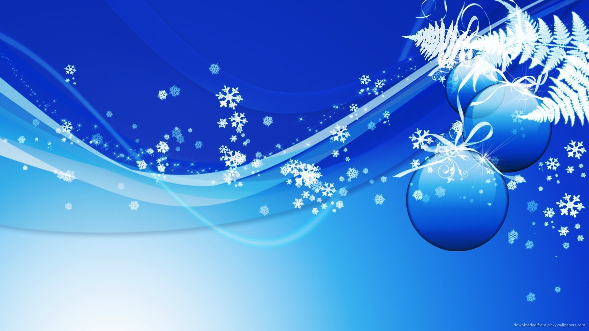 1920x1080 Blue Design Christmas Background picture